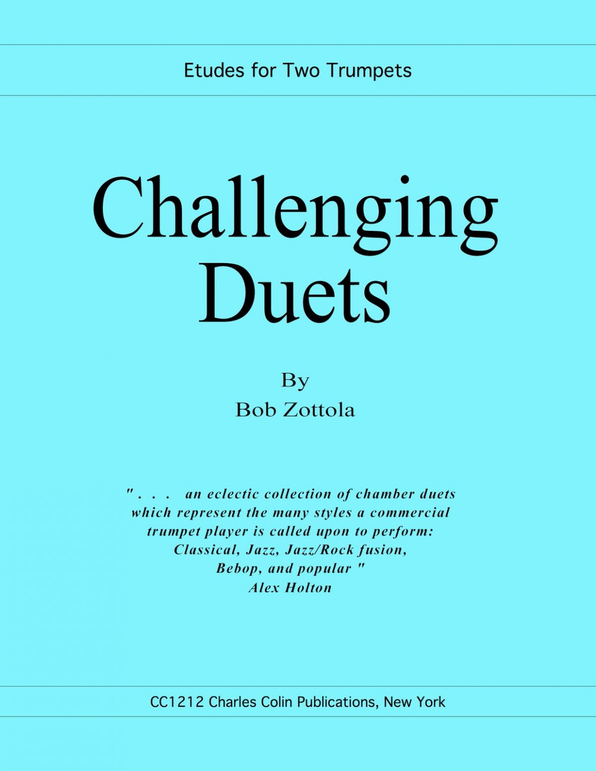 Zottola, Challenging Duets for Two Trumpets-p01
