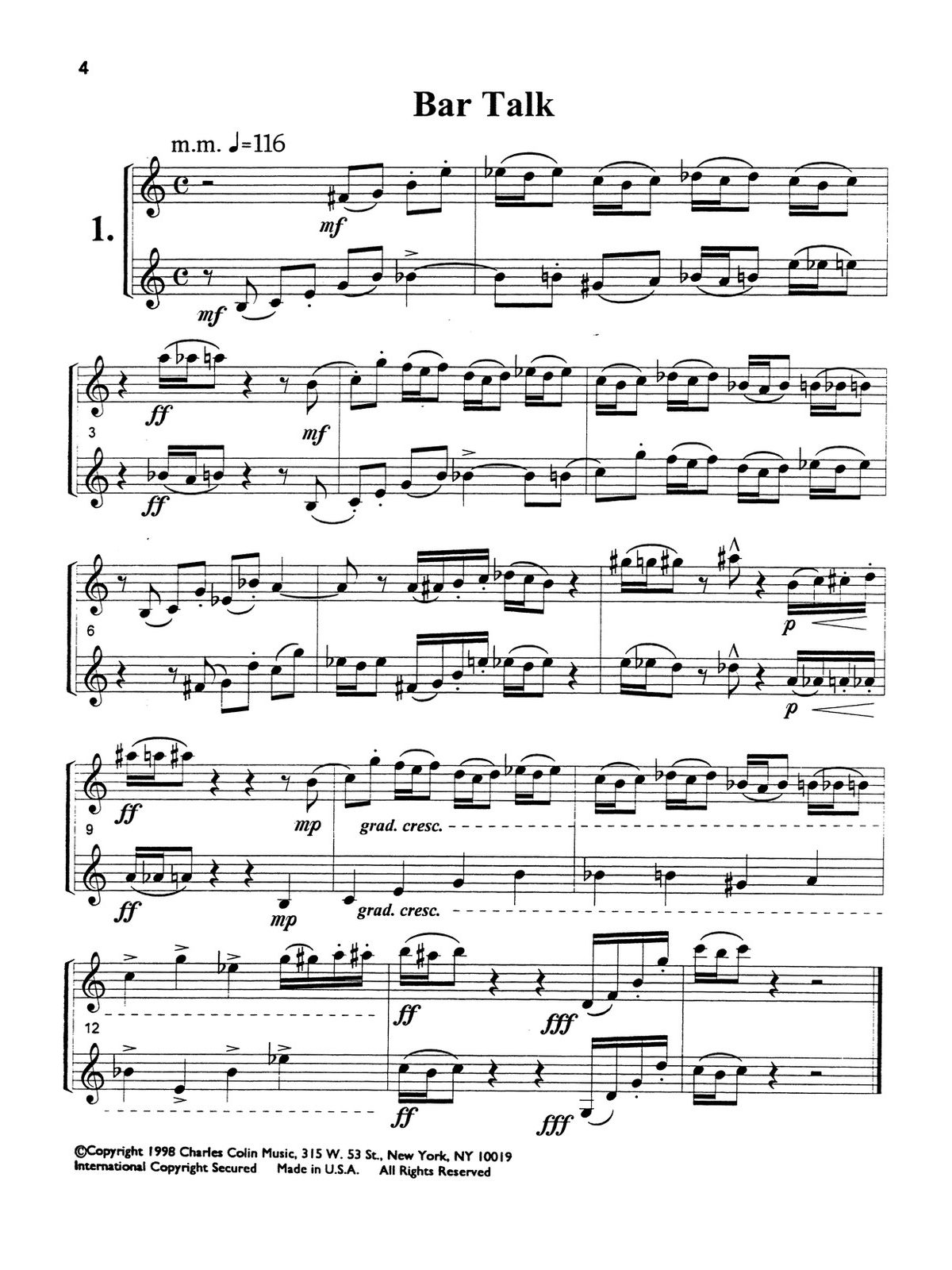 Zottola, Challenging Duets for Two Trumpets-p04