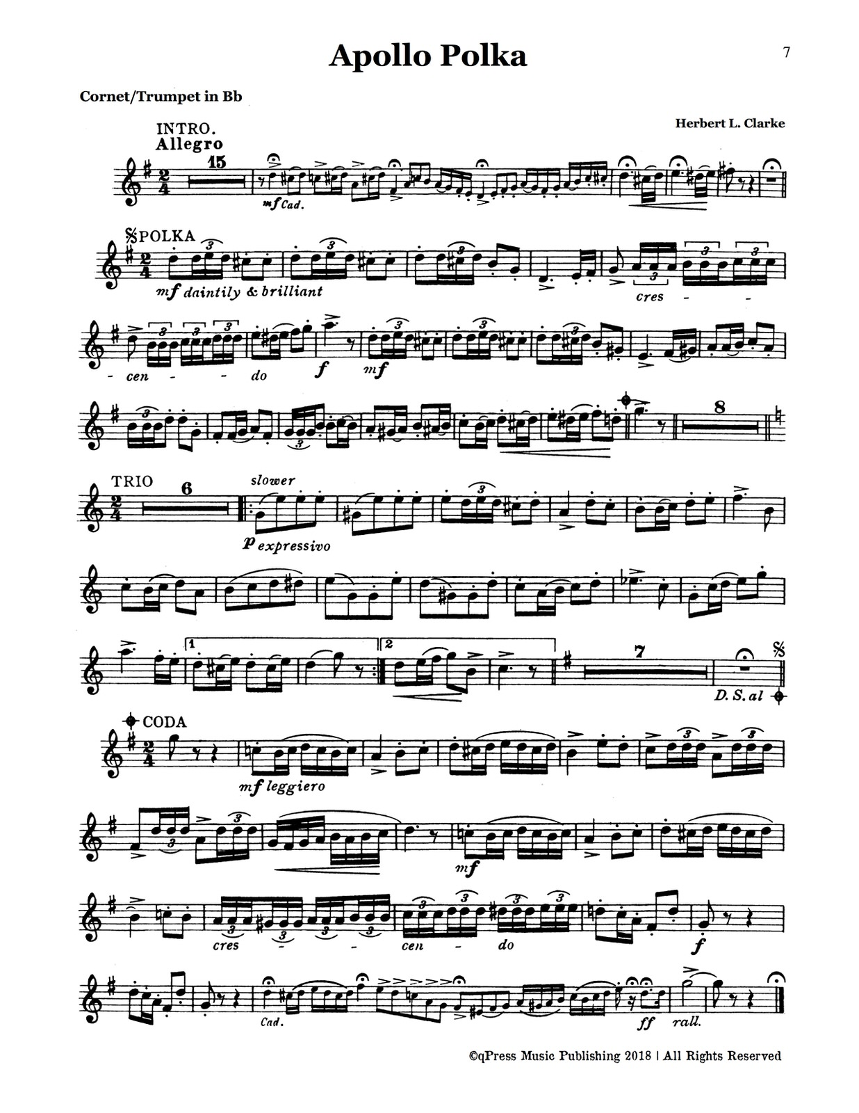 Clarke, Cornet Solo Collection (Part and Score)-p005