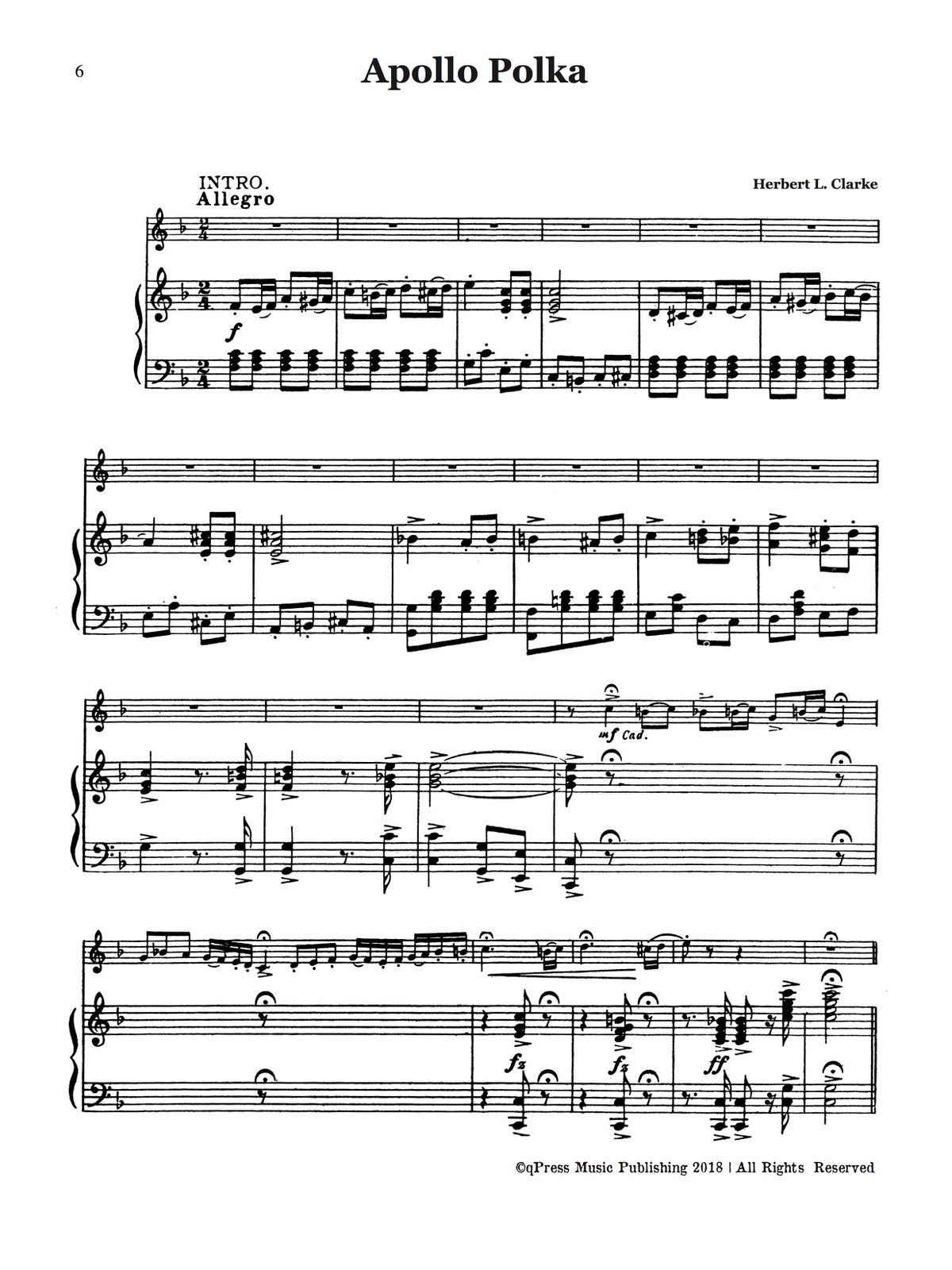 Clarke, Cornet Solo Collection (Part and Score)-p064
