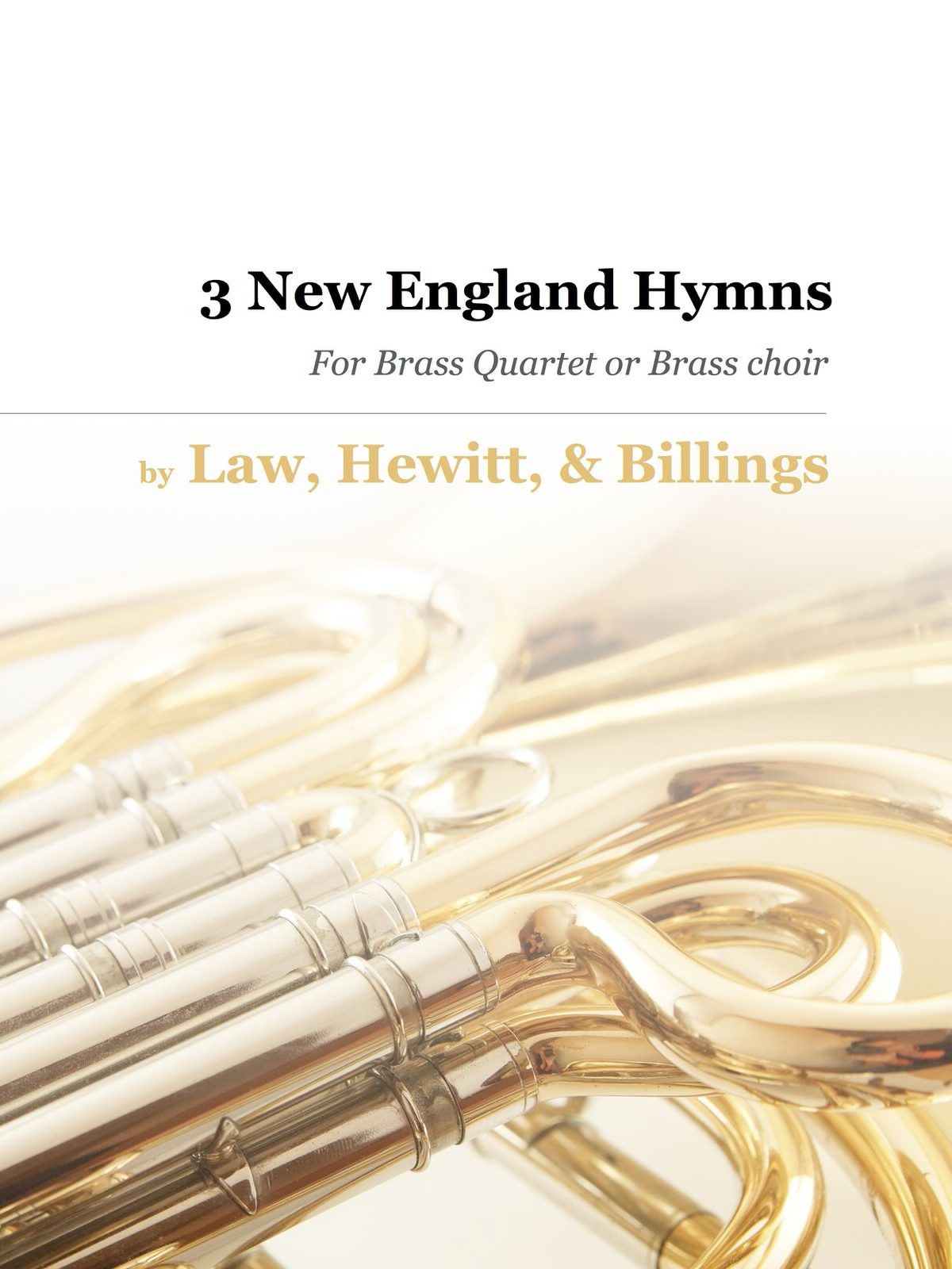 Billings, 3 New England Hymns for 4-Part Brass-p01