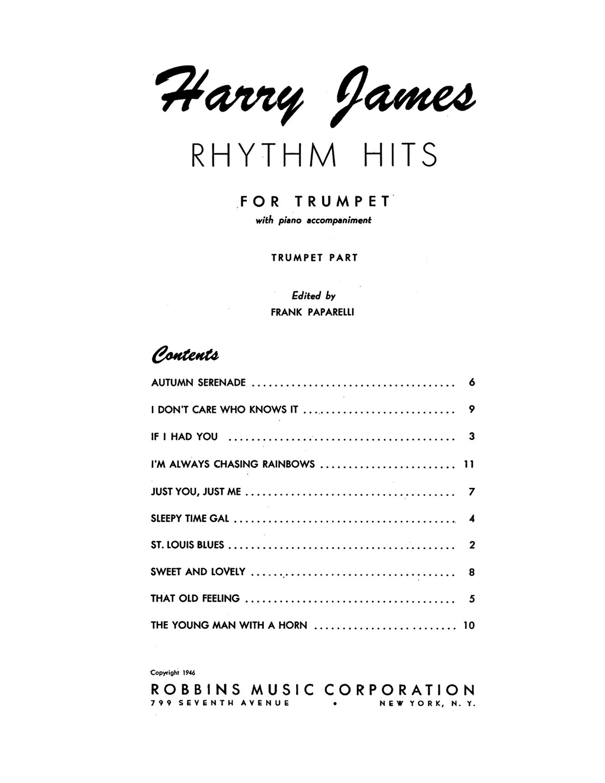 James, Rhythm Hits for Trumpet-p03