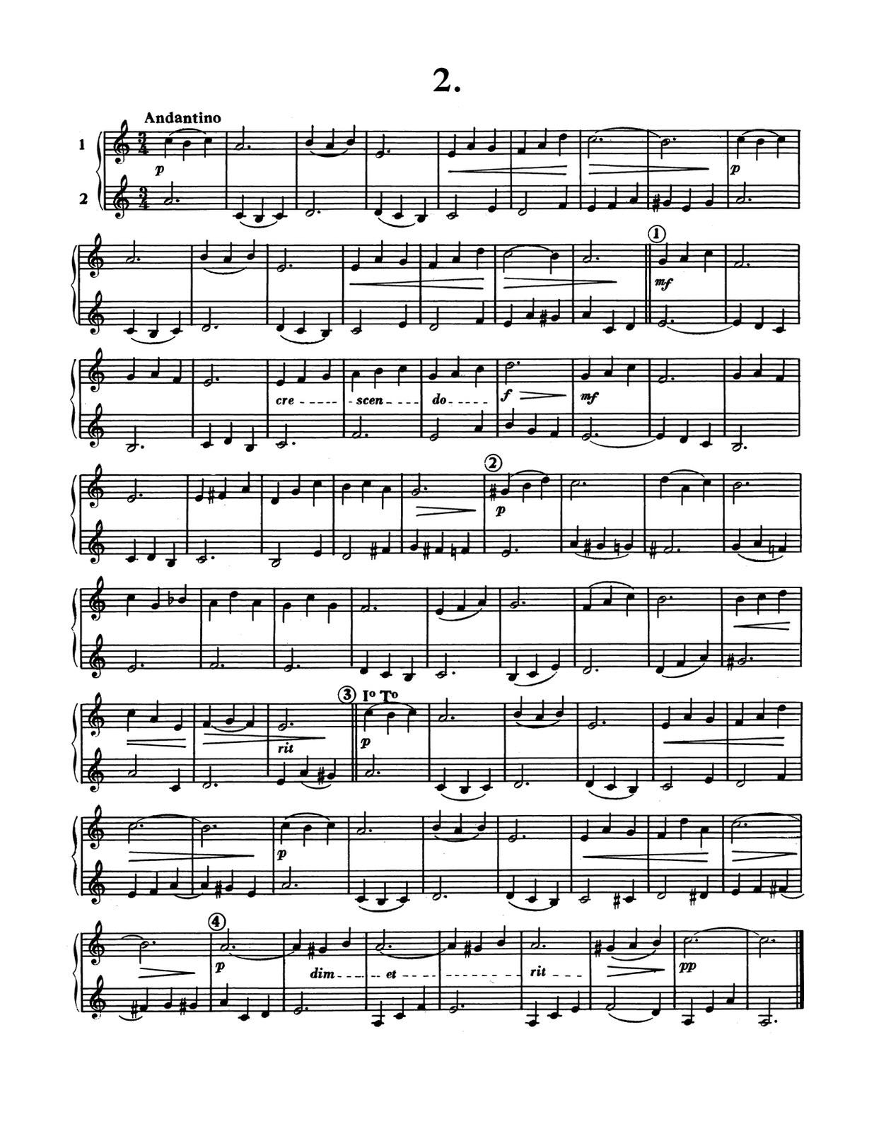 Porret, 12 Divertissements en Duos for Cornet, Trumpet, Bugle-p04