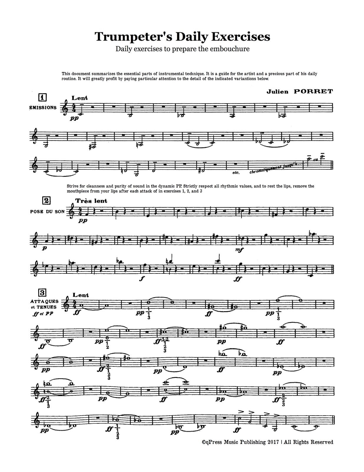 Porret, Trumpeter's Daily Exercises-p3