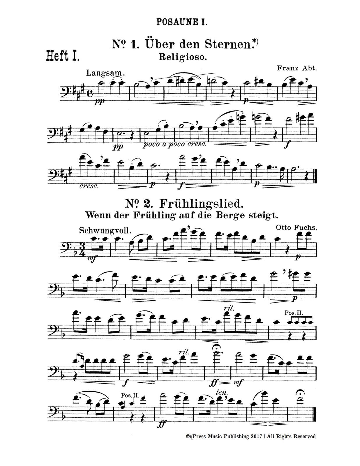Trombone 1 Page 1