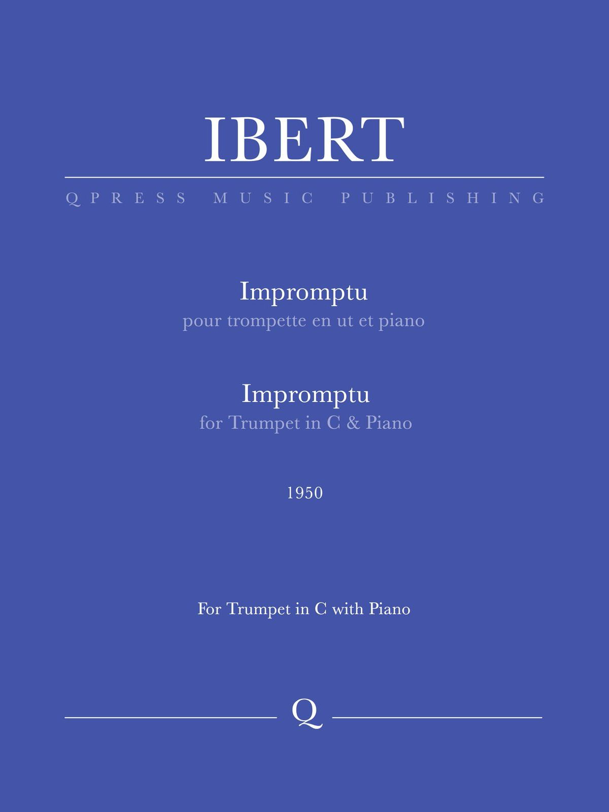 Ibert, Impromptu (Part and Score)-p1