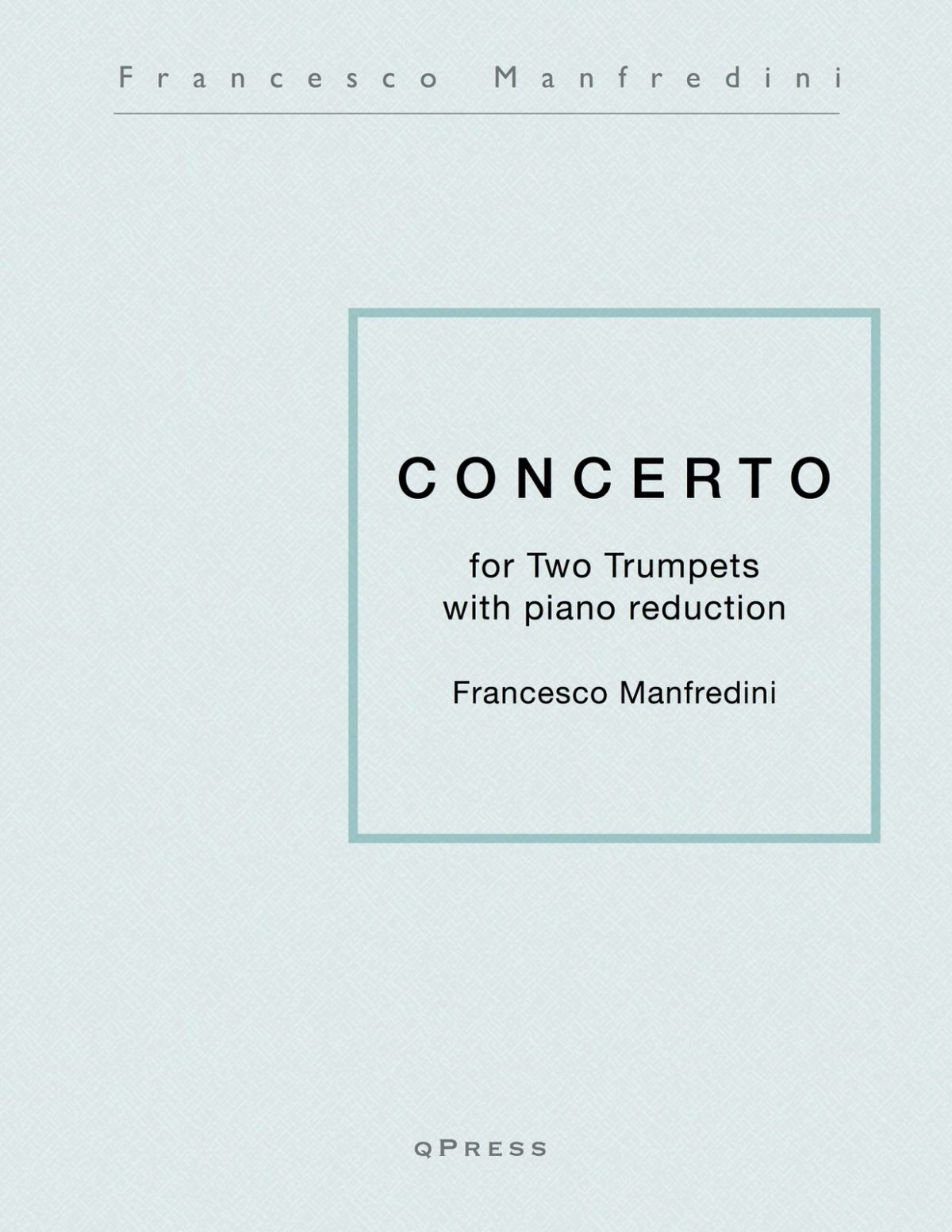 Manfredini, Concerto for Two Trumpets (Score and Parts)-p01