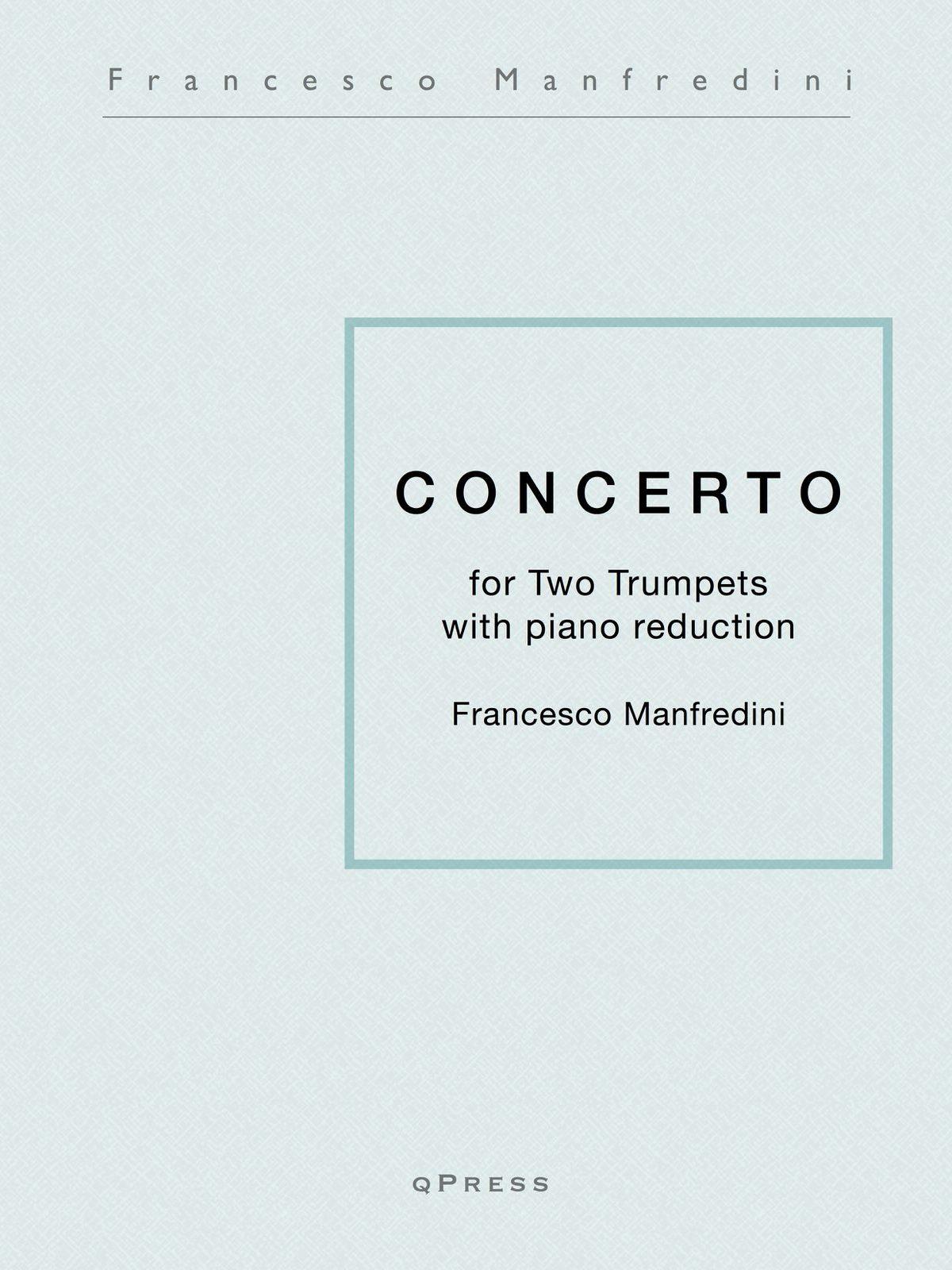 Manfredini, Concerto for Two Trumpets (Score and Parts)-p01