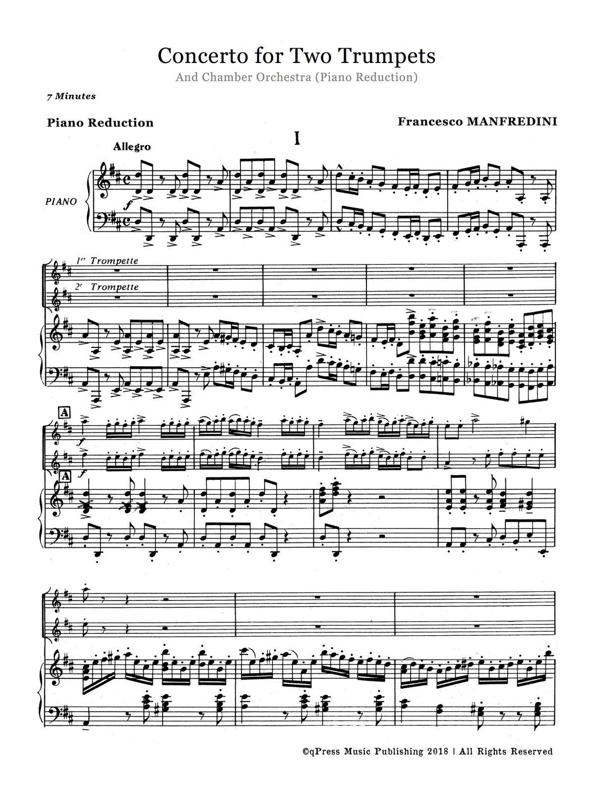 Manfredini, Concerto for Two Trumpets (Score and Parts)-p11