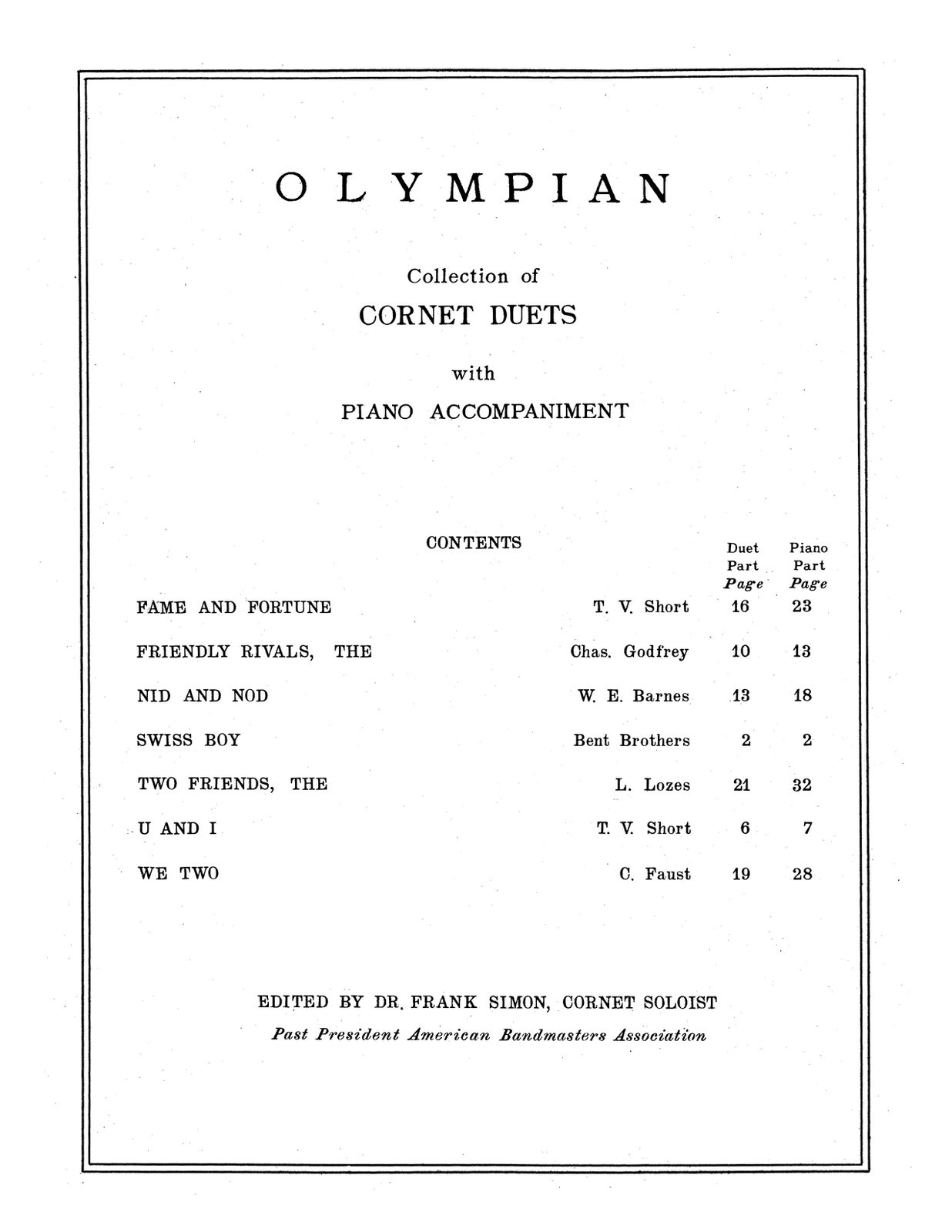 Simon, Olympian Collection of Cornet Duets with Piano-p03