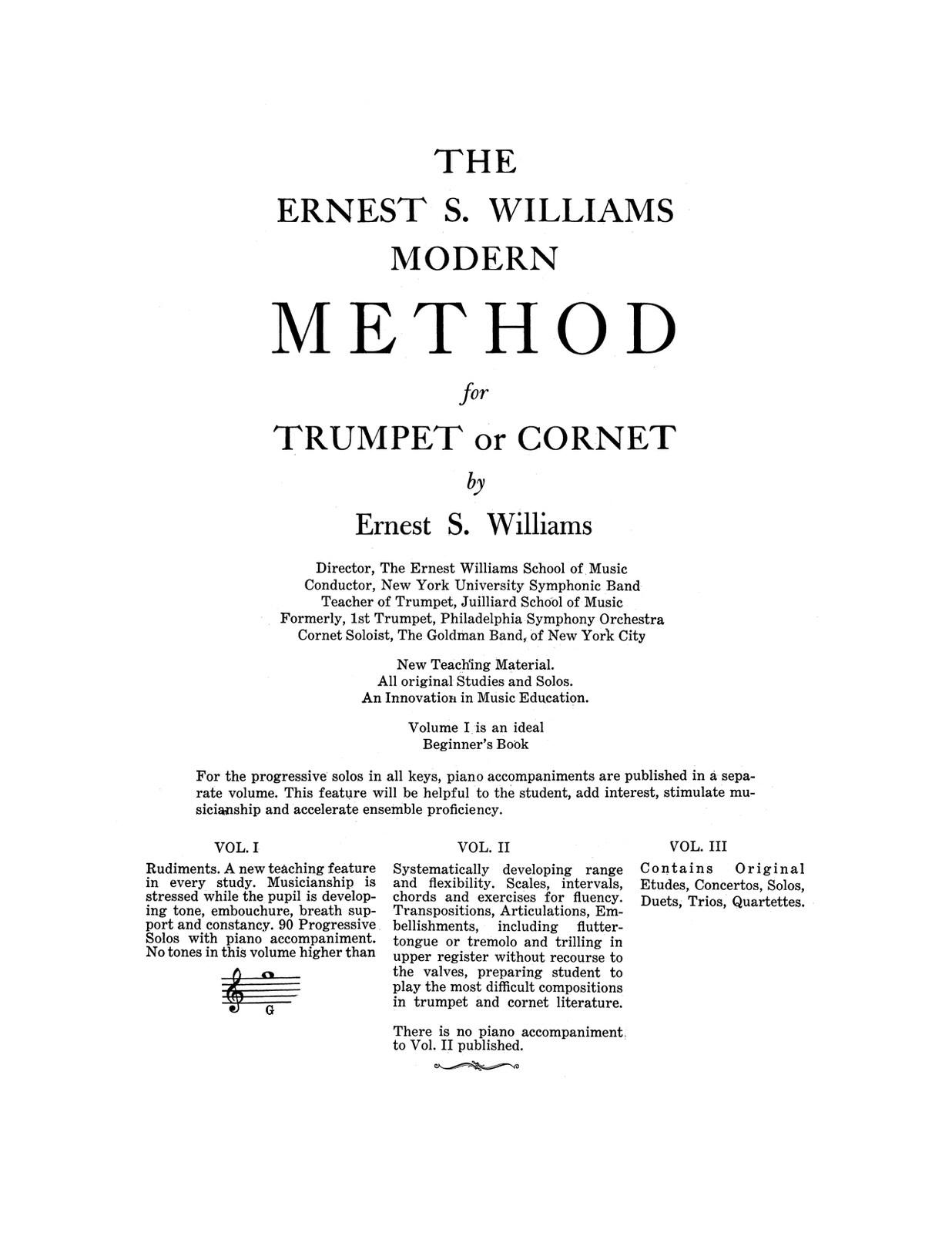 Williams, Modern Method for Trumpet or Cornet-p003