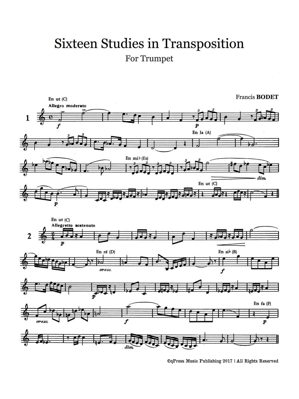Bodet, 16 Studies in Transposition-p03