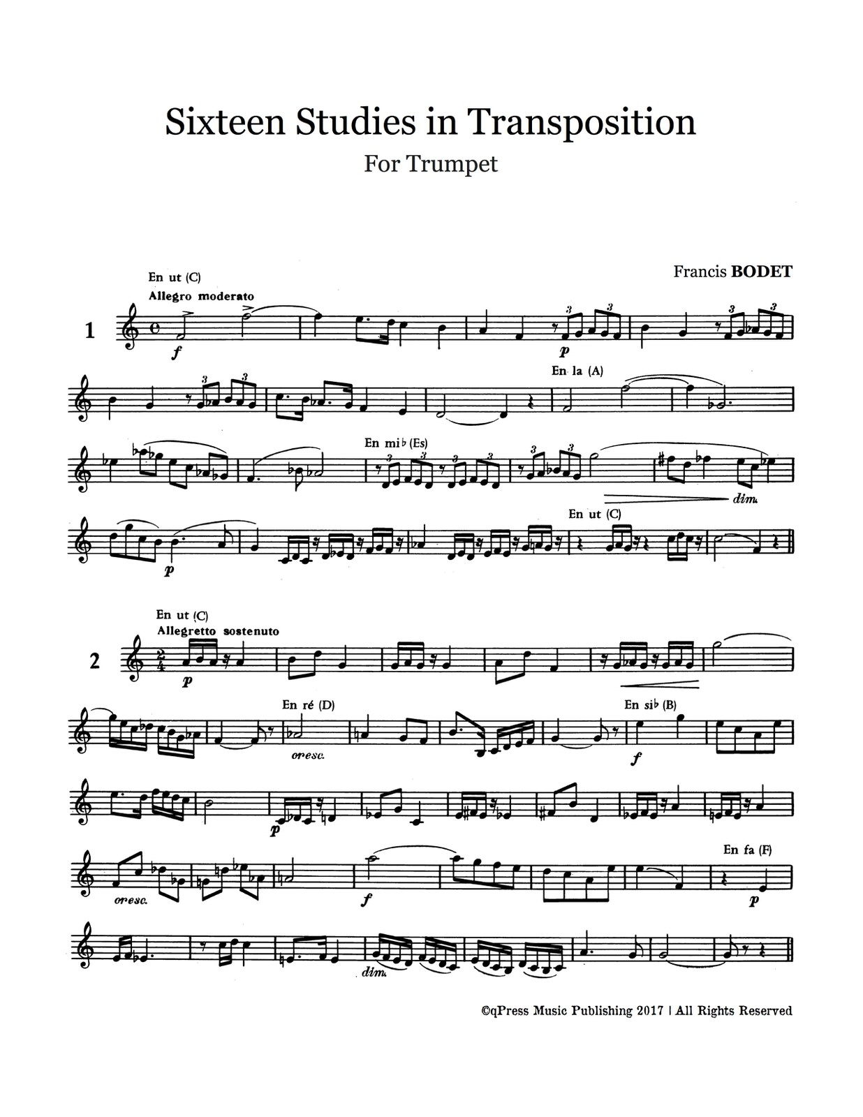 Bodet, 16 Studies in Transposition-p03