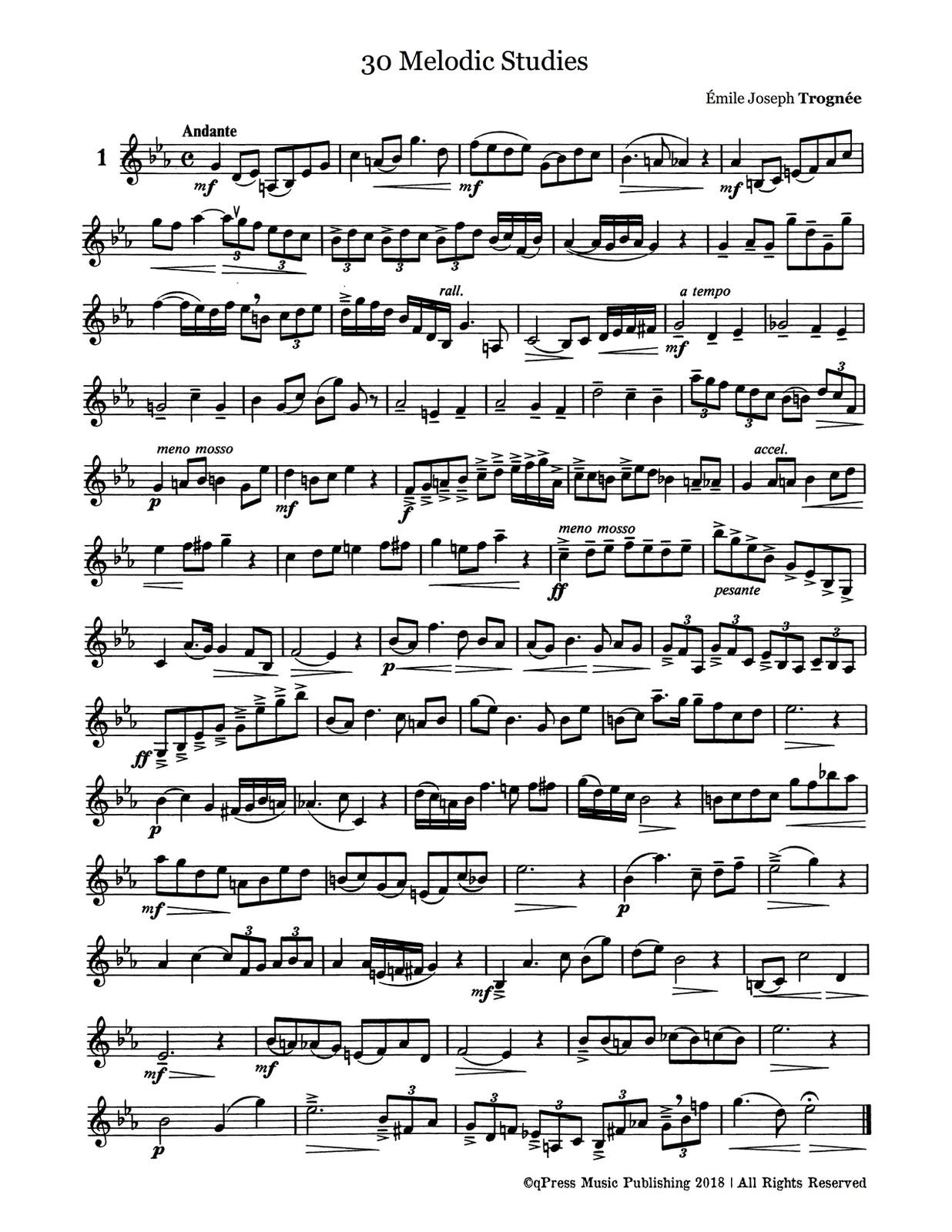 Trognee, 30 Melodic Studies-p02