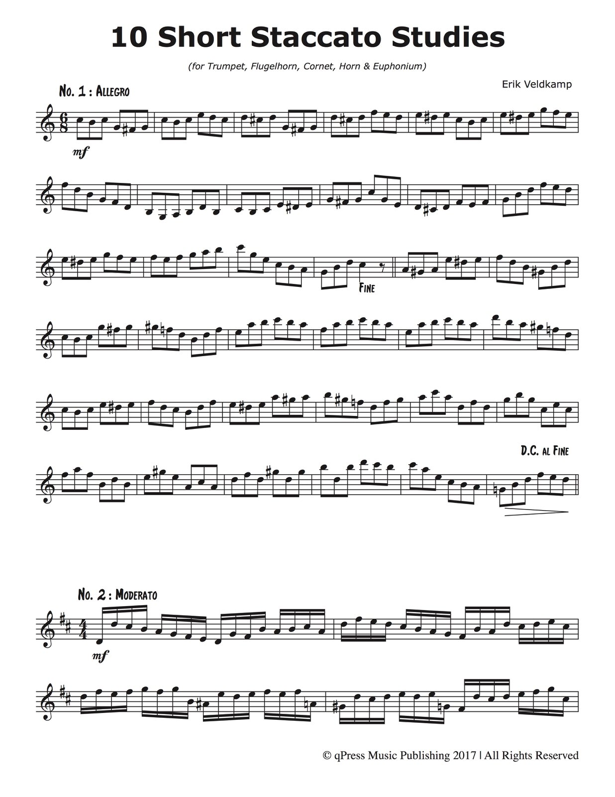 Veldkamp, 10 Short Staccato Studies-p2