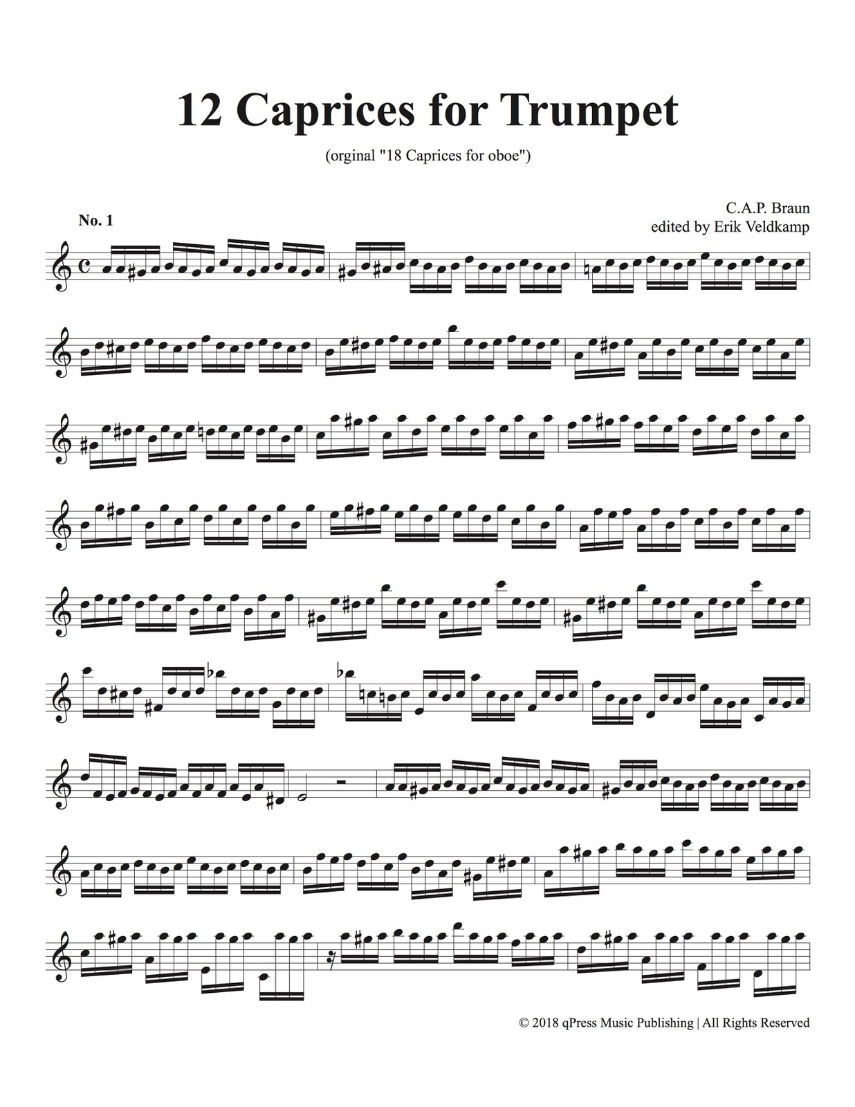 Veldkamp-Braun, 12 Caprices for Trumpet-p02