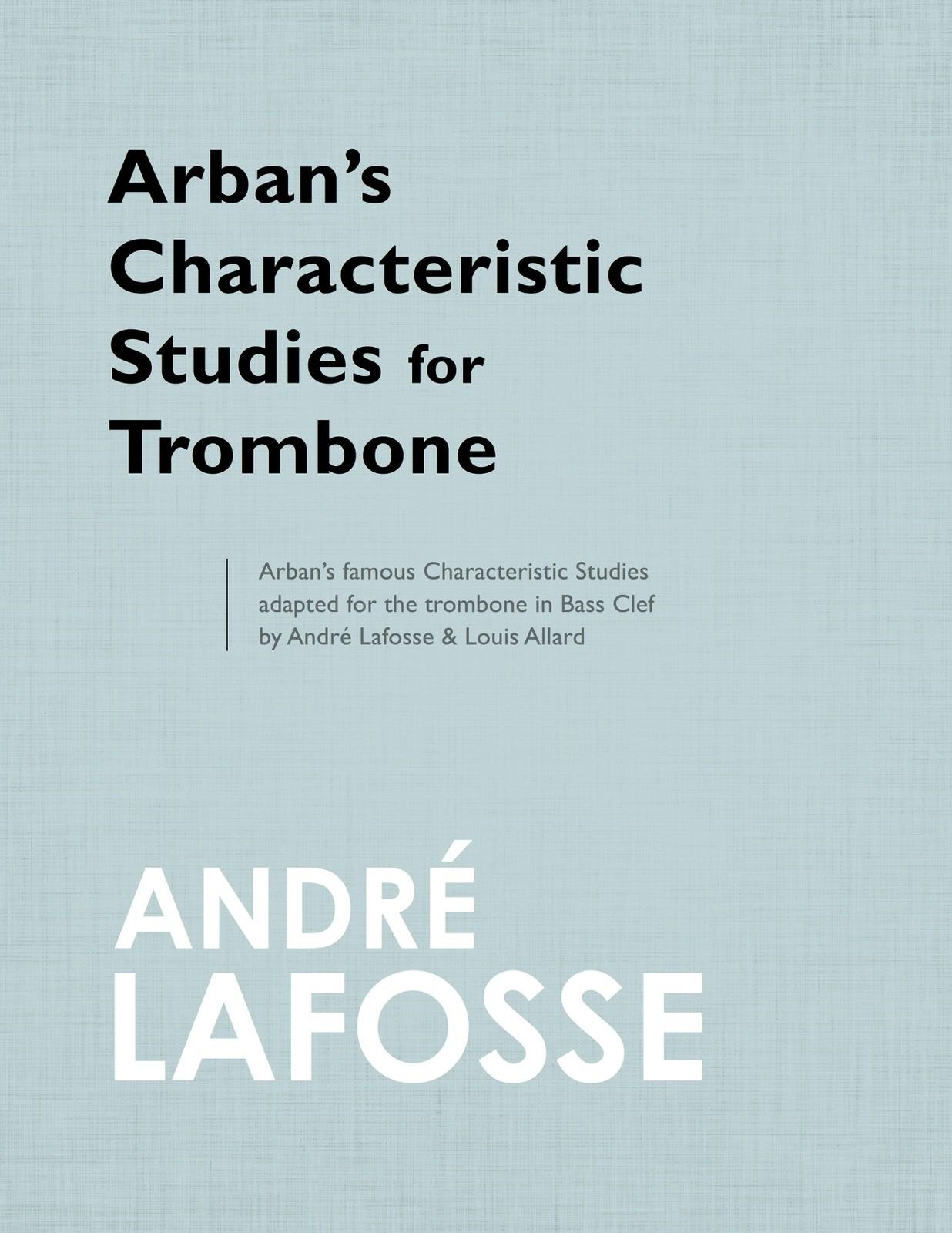 Allard, Lafosse, Arban Etudes Characteristiques-p01