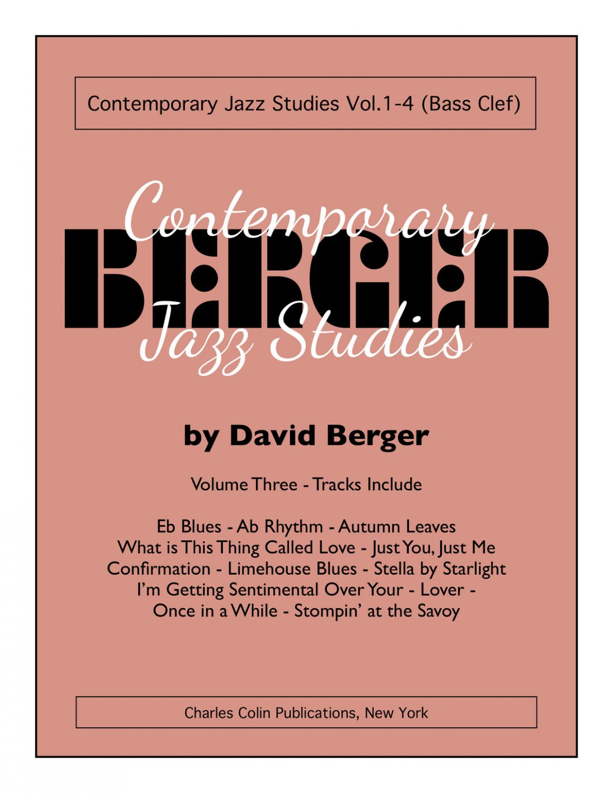 Berger, Contemporary Jazz Studies Vol.3 (Bass Clef)