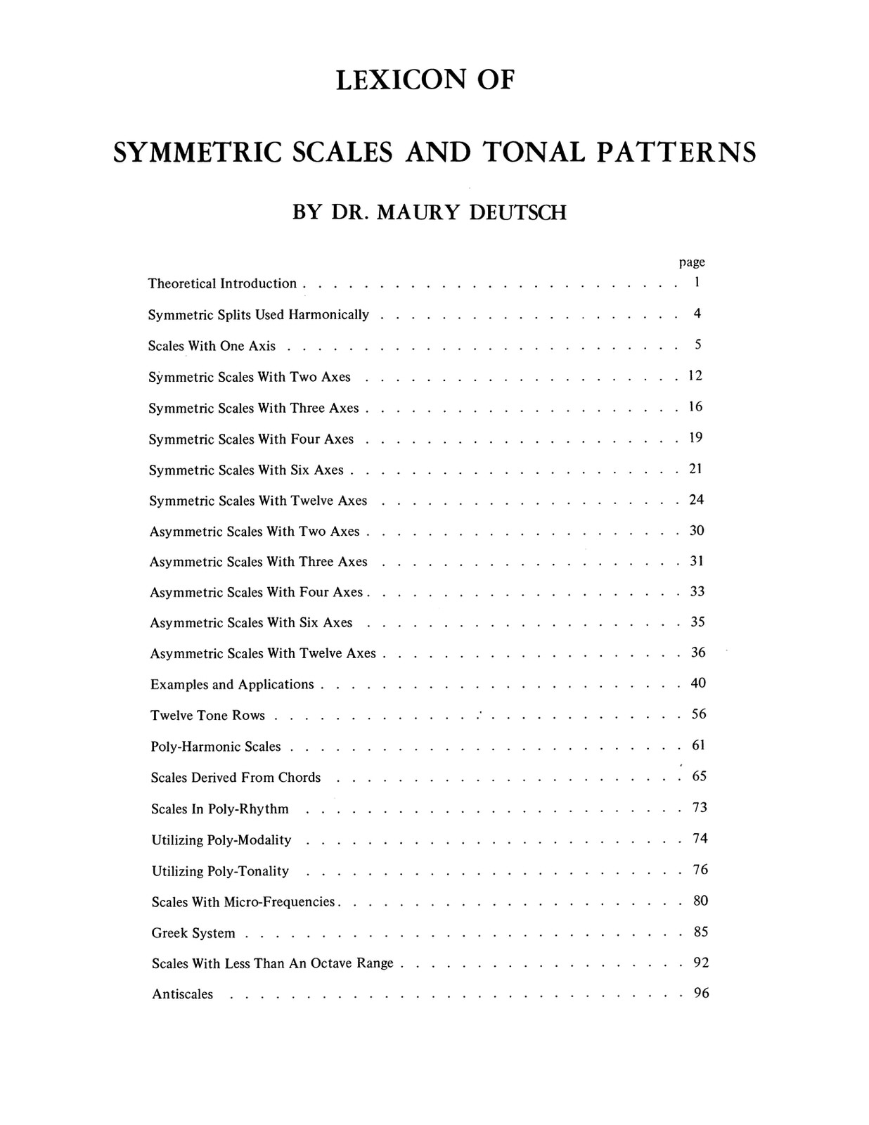 Deutsch, Lexicon of Symmetric Scales and Tonal Patterns-p02