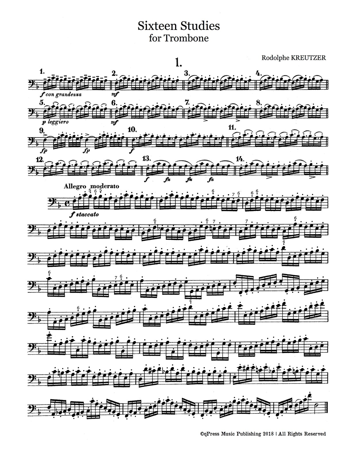 Kreutzer, Rodolphe, 16 Studies for Trombone-p03