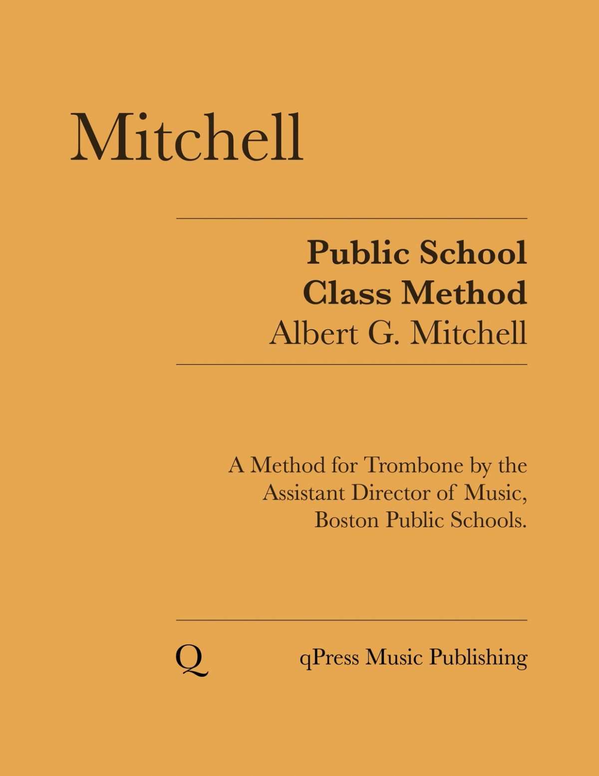 Mitchell, Public School Class Method for the Slide Trombone-p01