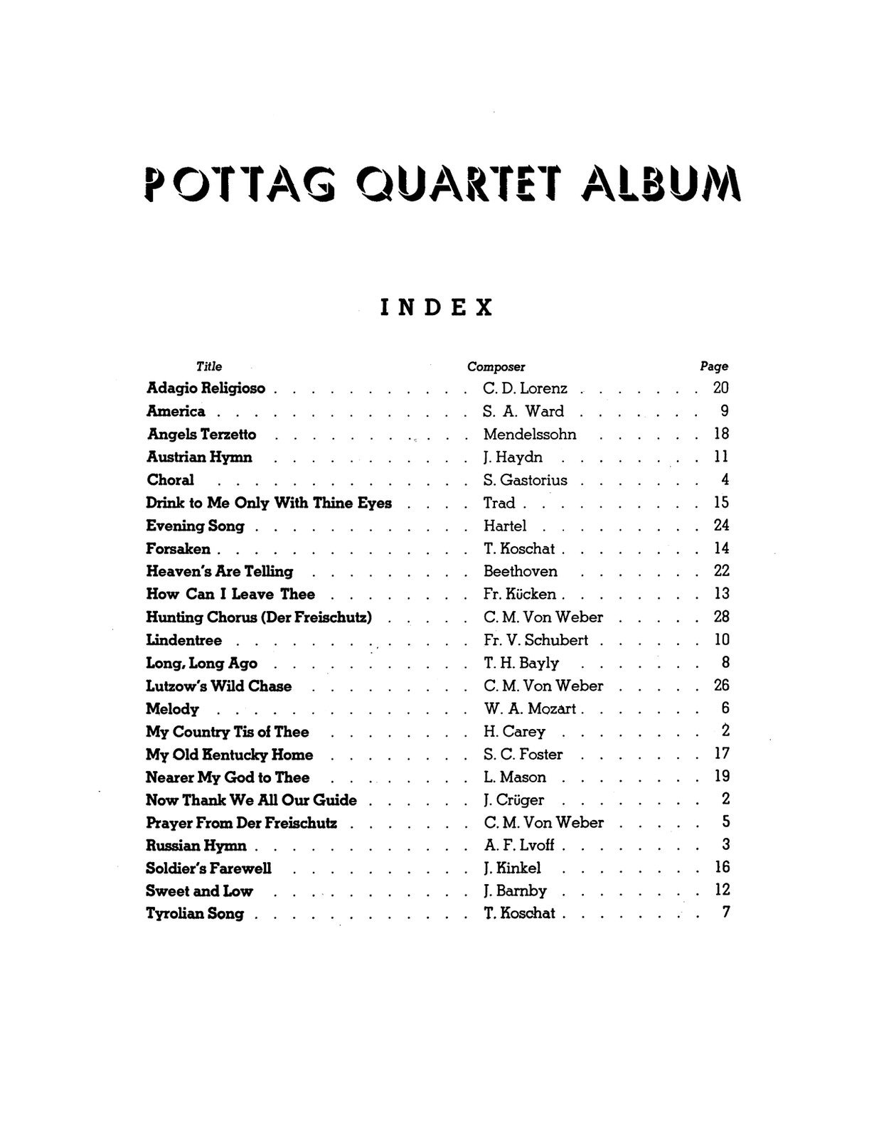 Pottag, Quartet Album for French Horn-p03