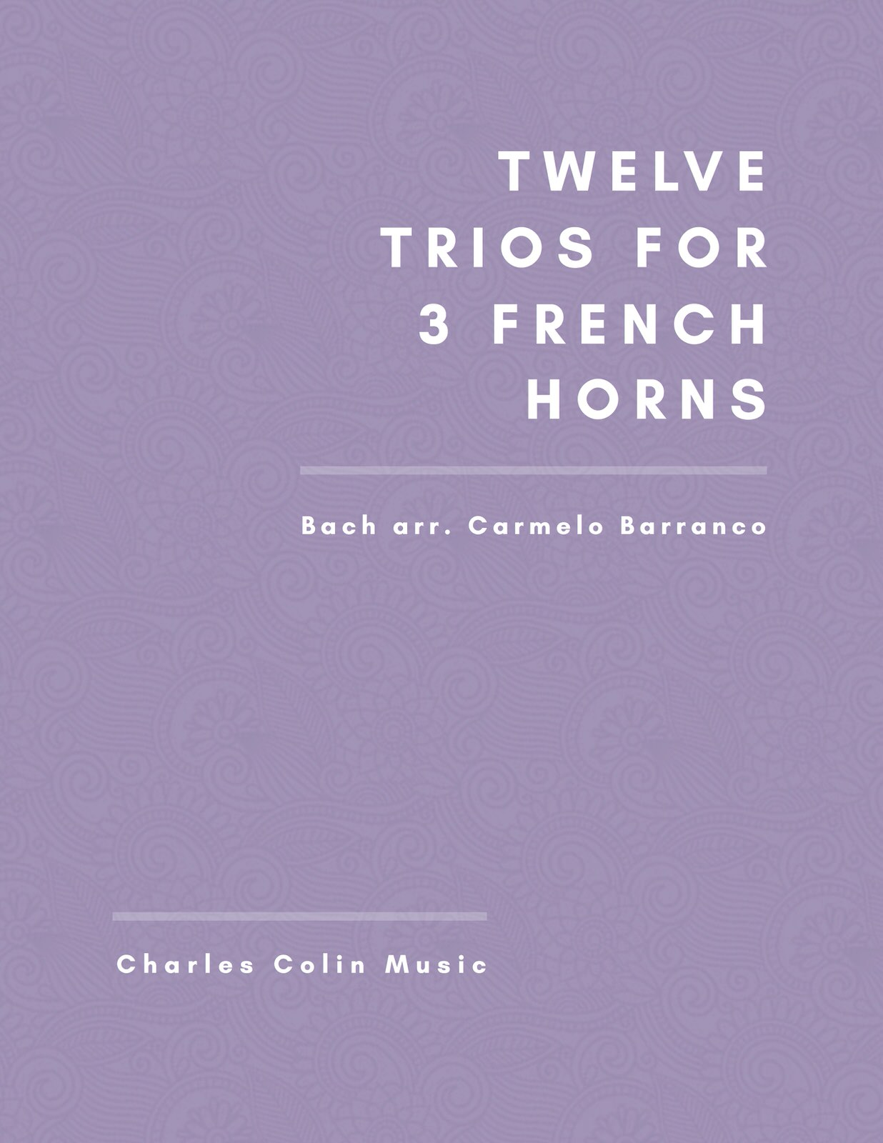 Barranco-Bach, 12 Trios for French Horn-p01