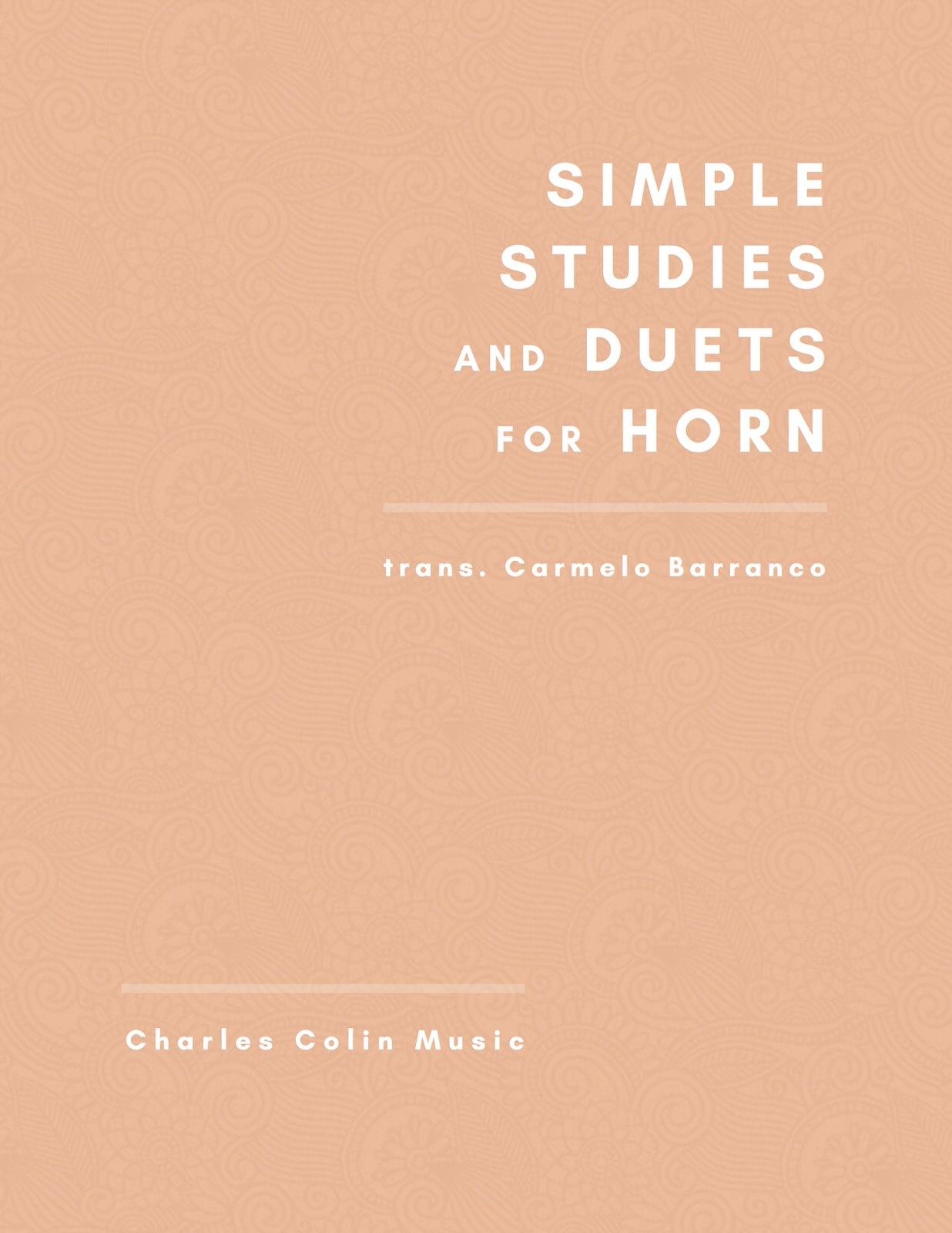Barranco, Simple Studies for Horn-p01