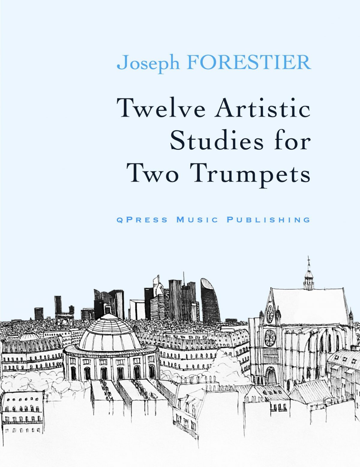 Forestier, 12 Artistic Studies for Two Trumpets-p01
