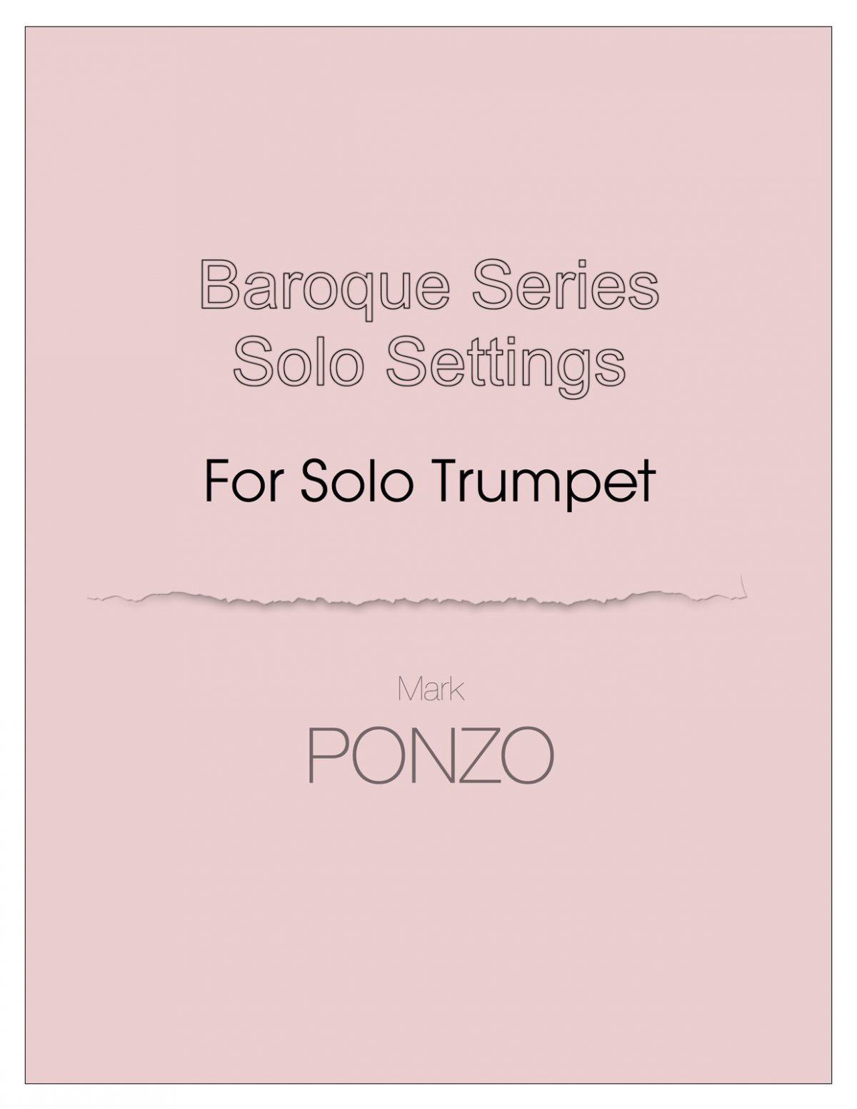 Ponzo, Baroque Series for Unaccompanied Trumpet-p01