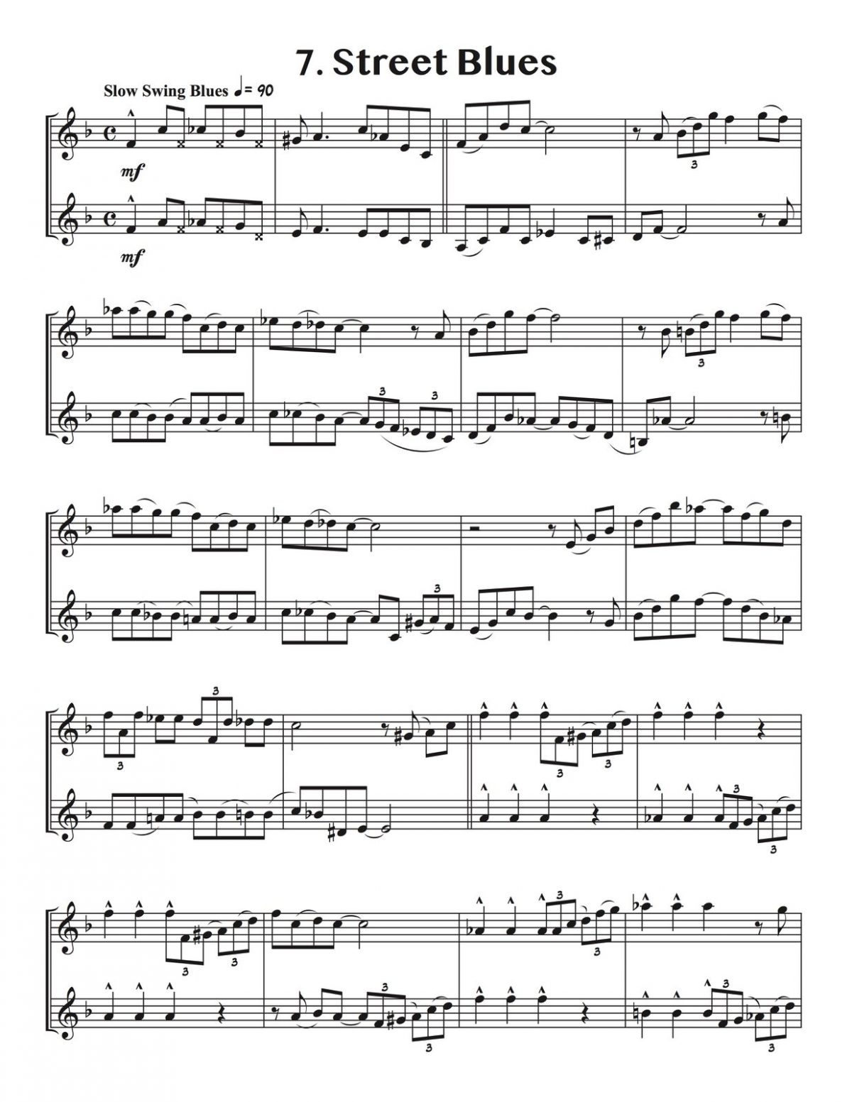 Veldkamp, 15 Duets in Pop, Swing, & Latin for Trumpet-p14