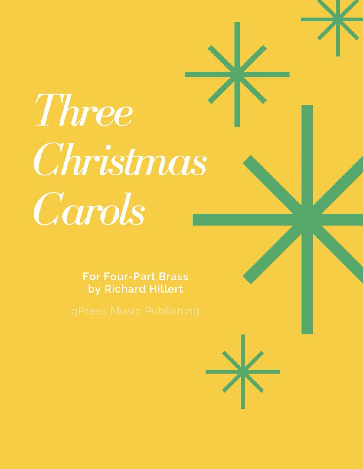 Hillert, Three Christmas Carols for Brass (Score and Parts)-p01