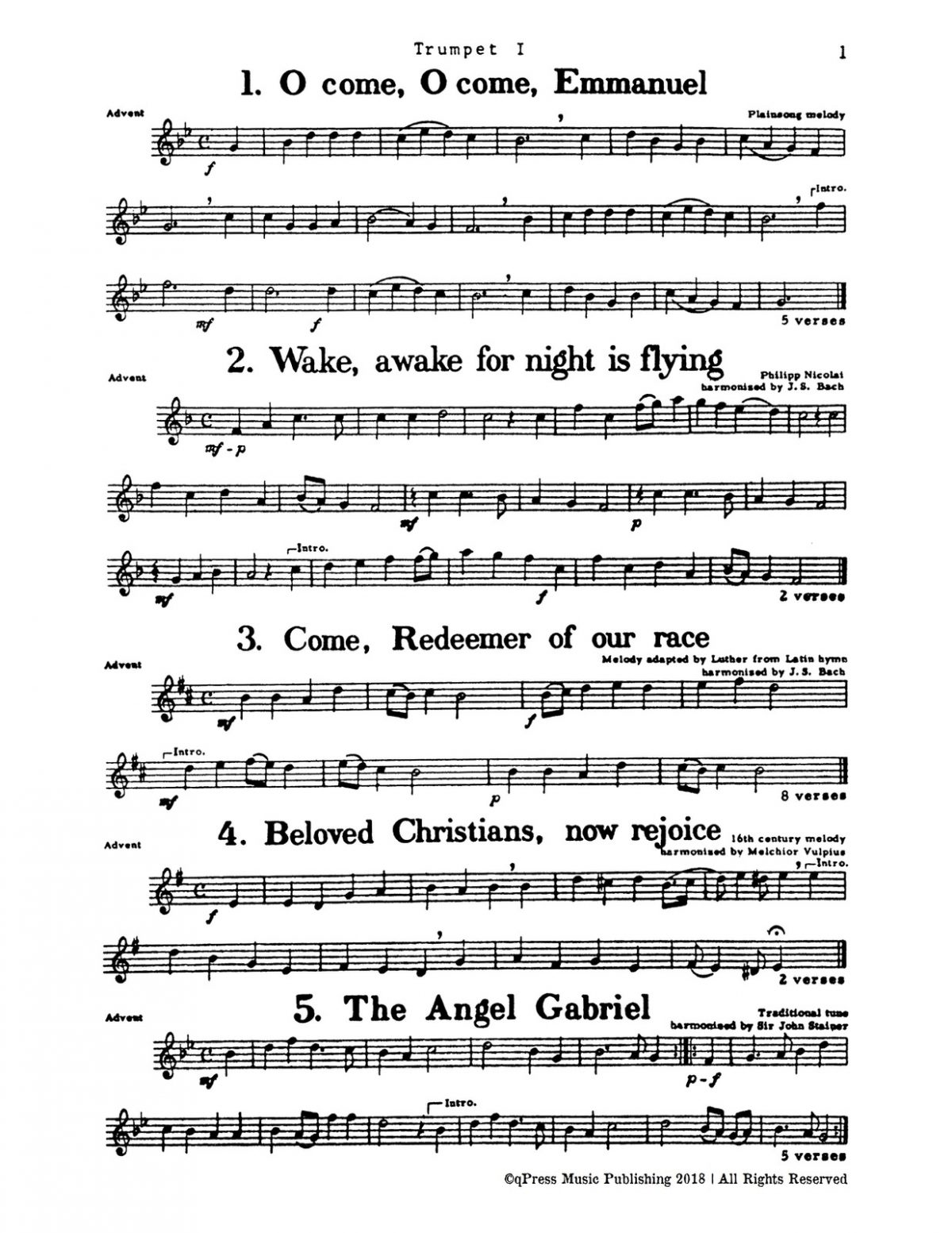 Rasmussen, Christmas Music for Four Part Brass (Score and Parts)-p005