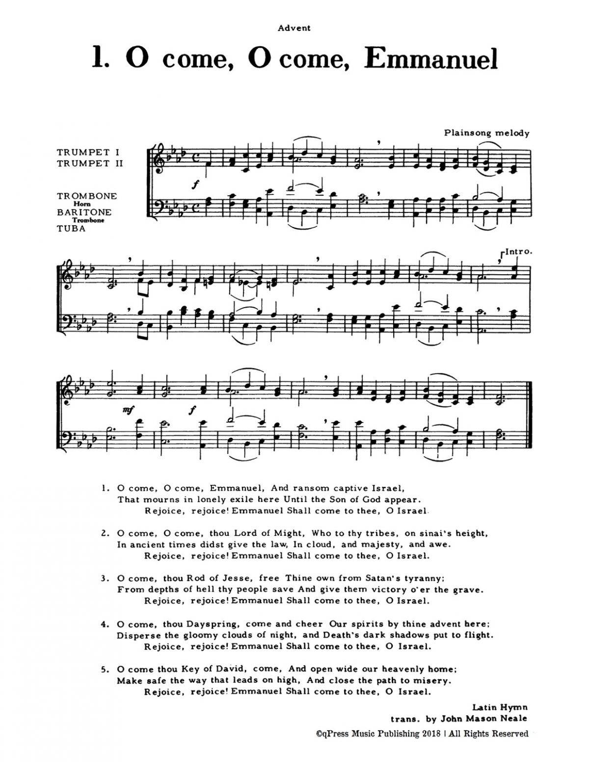 Rasmussen, Christmas Music for Four Part Brass (Score and Parts)-p063