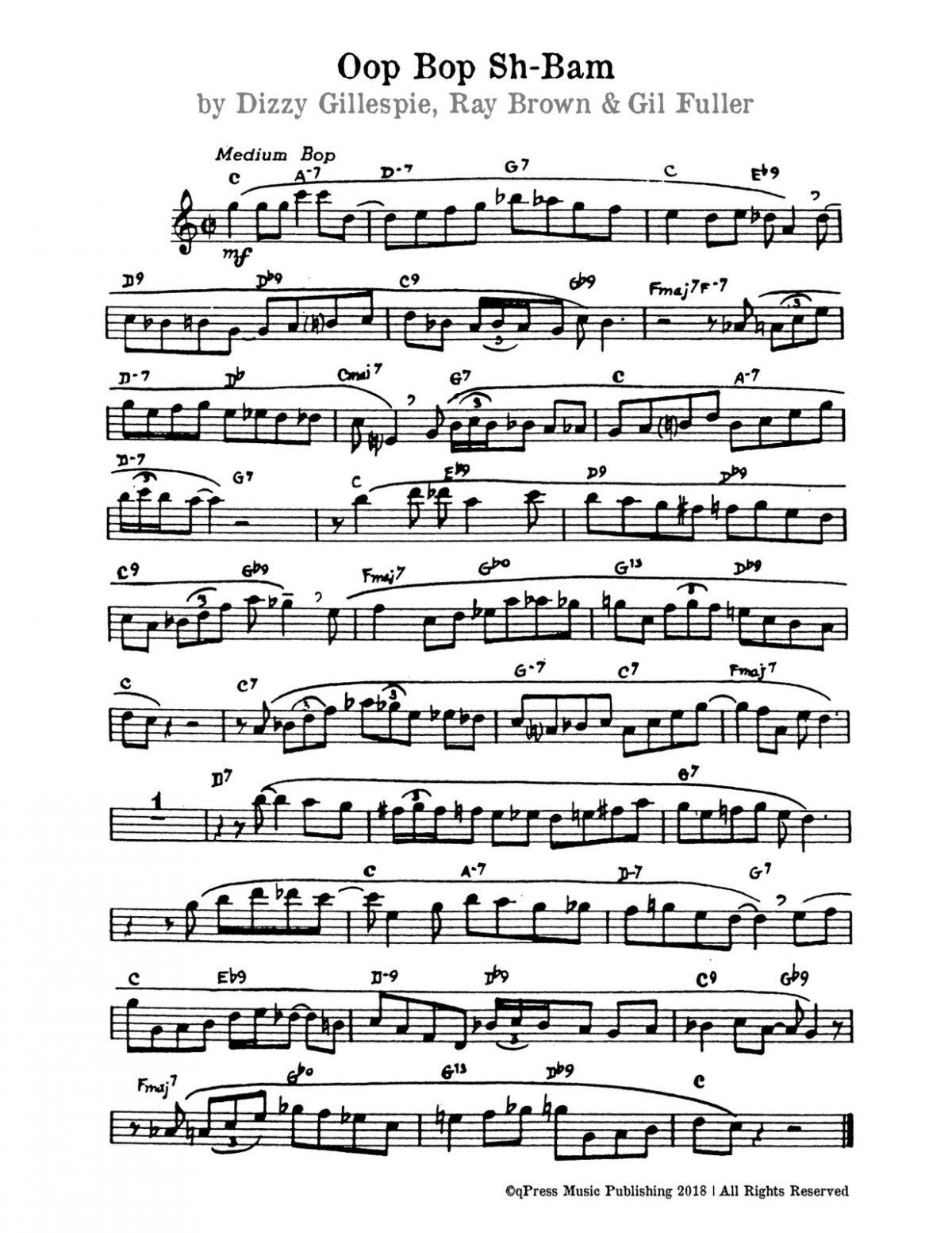 Gillespie, BeBop Instrumental Choruses-p3