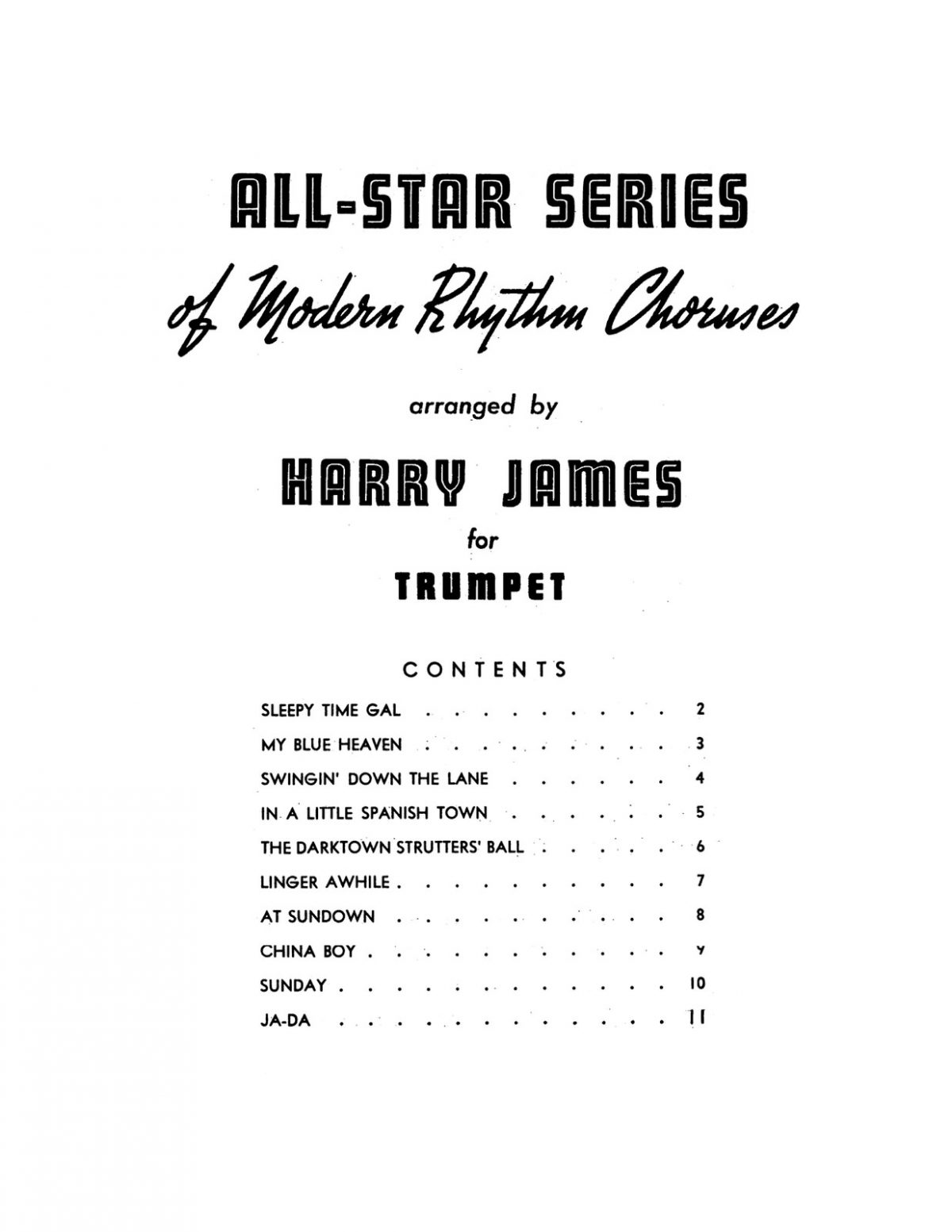 James, All Star Series of Modern Rhythm Choruses-p03
