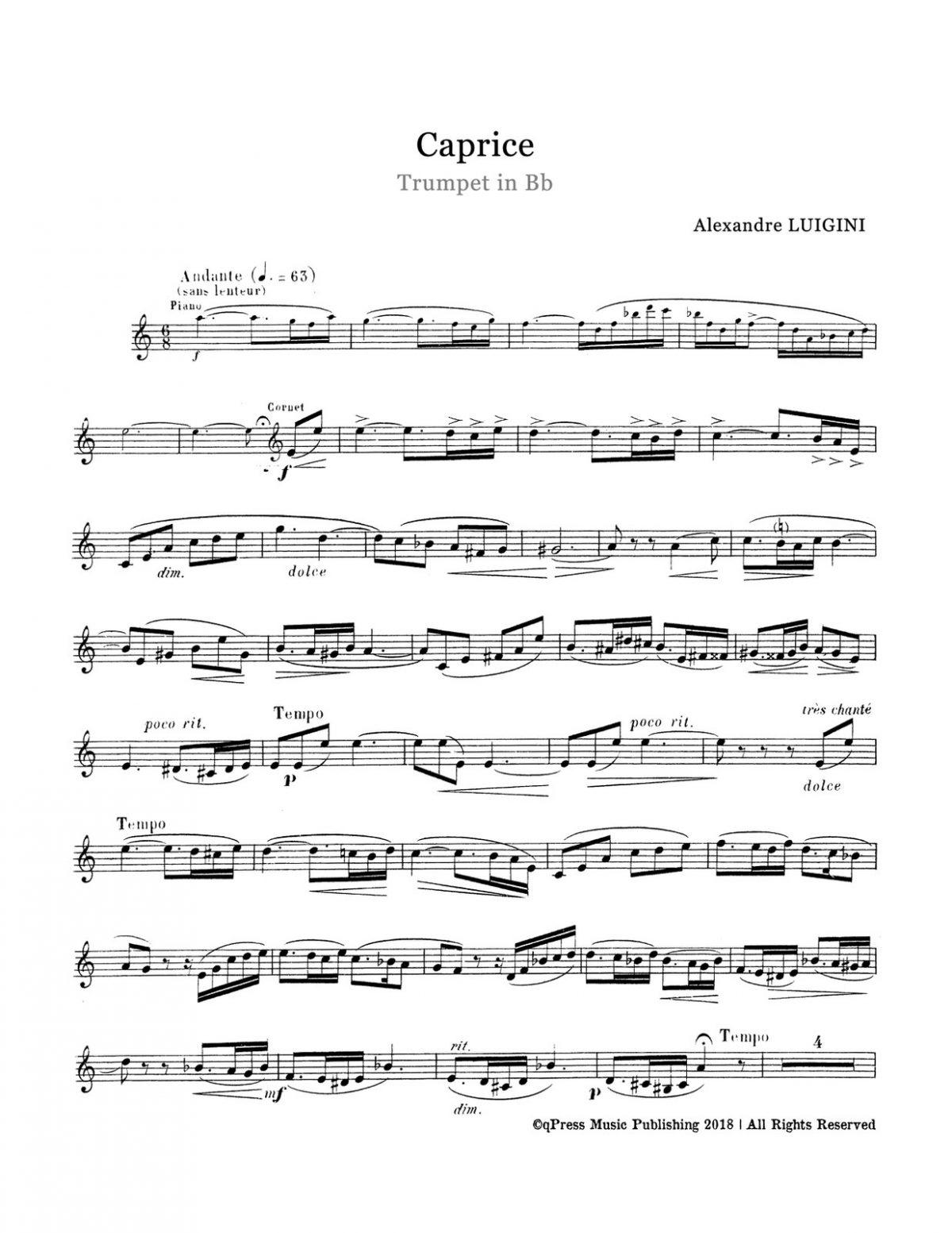 Luigini, Caprice, Op.60-p03