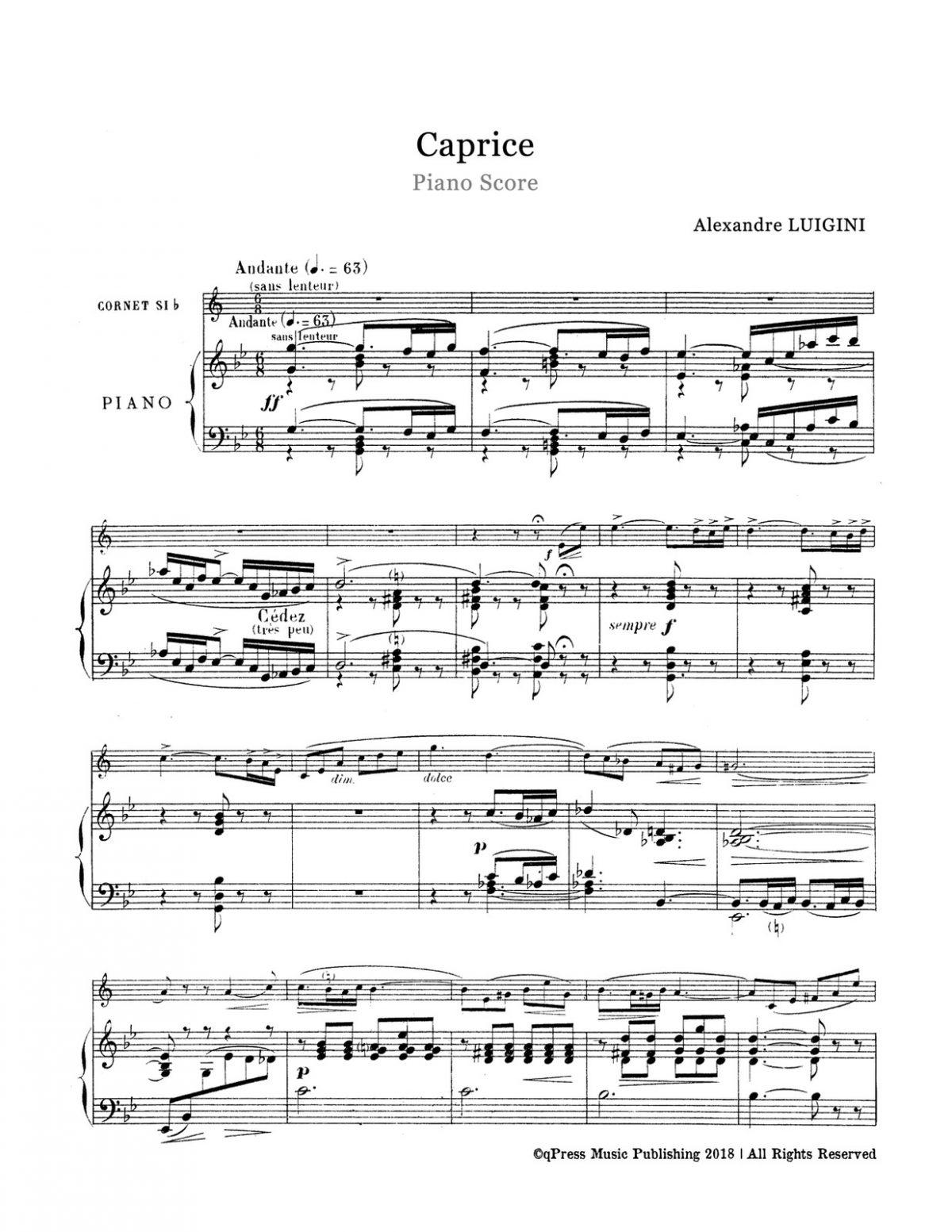 Luigini, Caprice, Op.60-p07