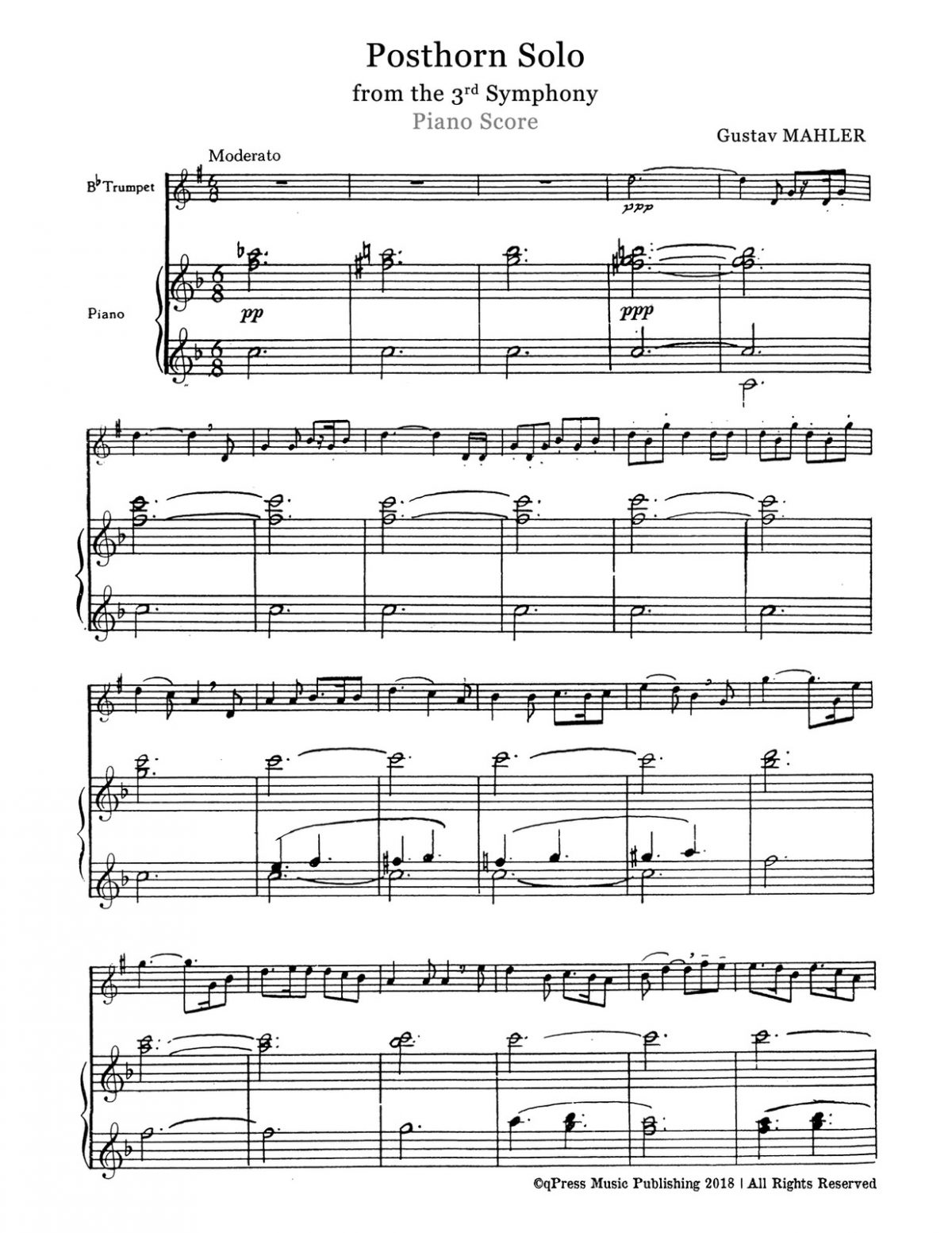 Mahler, Posthorn Solo for Trumpet and Piano-p06