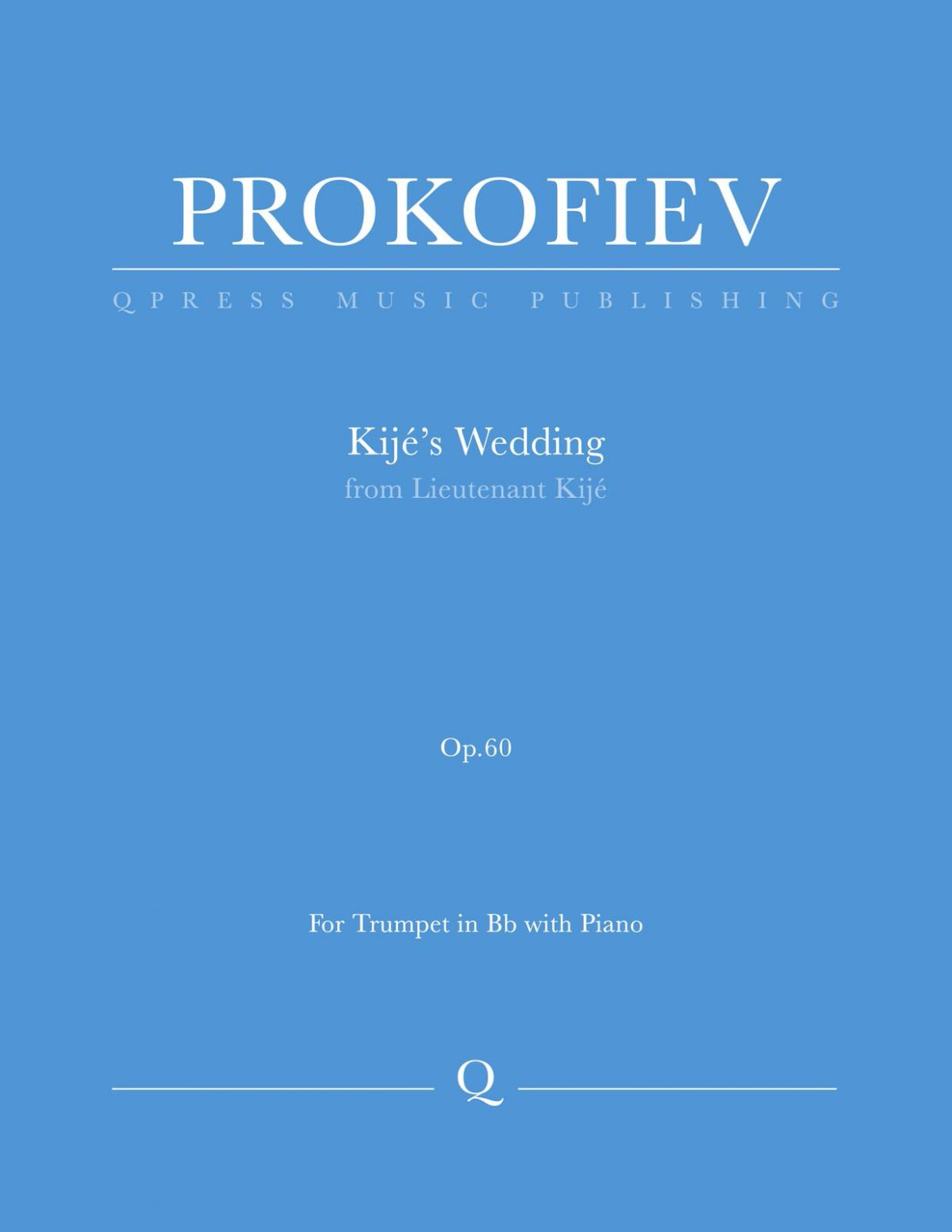 Prokofiev, Kije's Wedding for Trumpet and Piano-p01