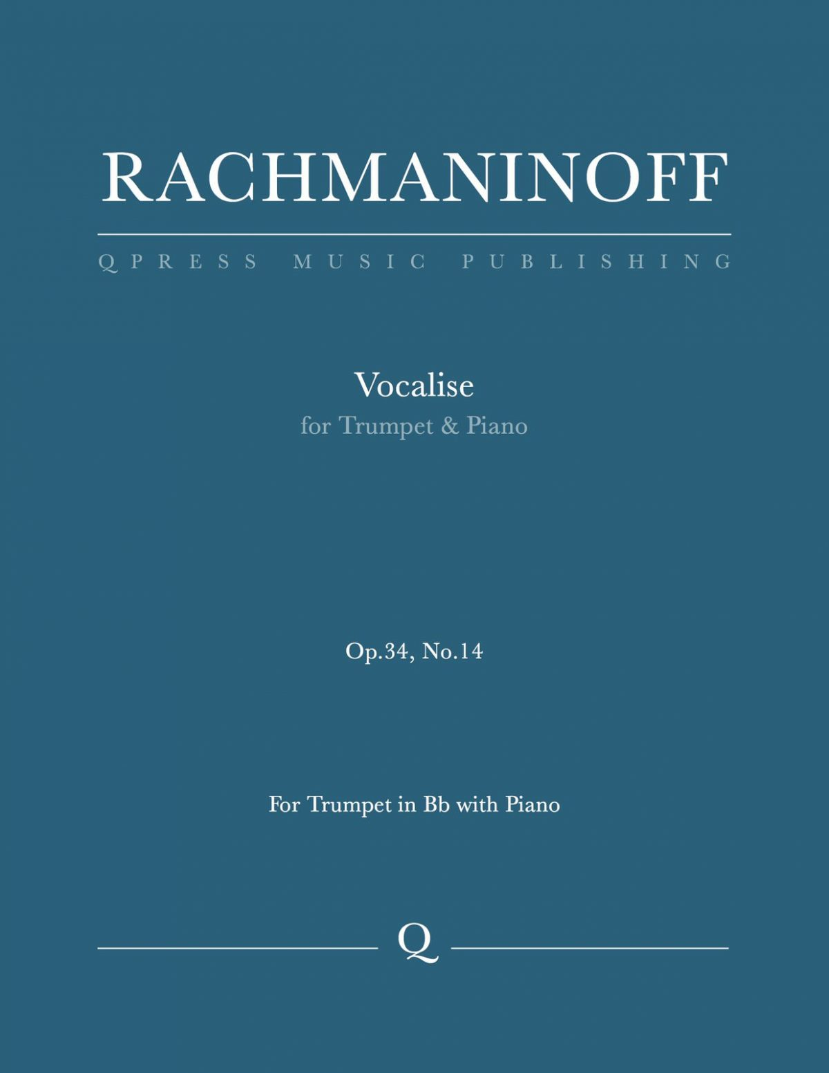 Rachmaninoff, Vocalise for Trumpet and Piano-p1
