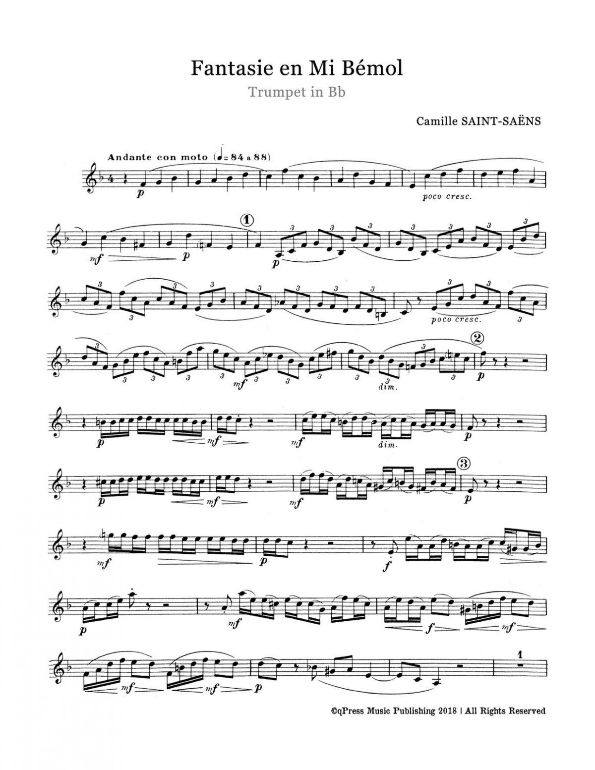 Saint-Saens, Fantasy in Eb Major-p03