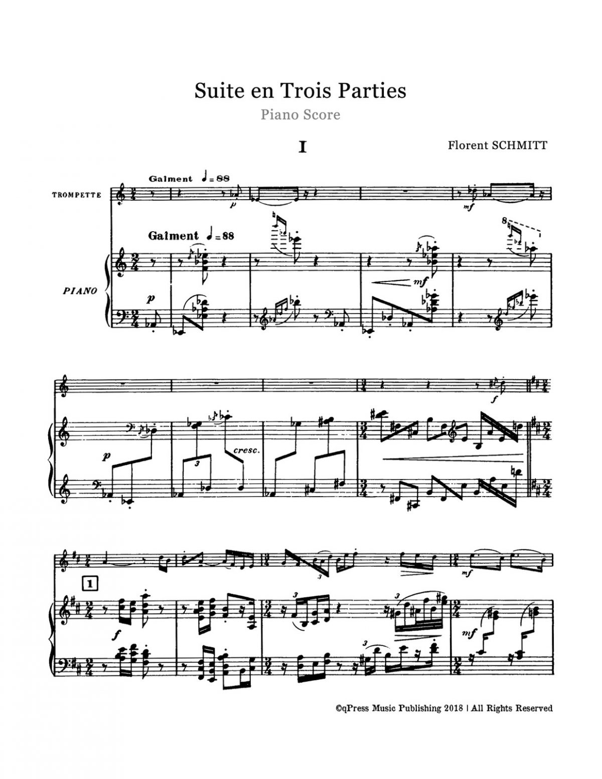 Schmitt, Florent, Suite for Trumpet and Piano-p13
