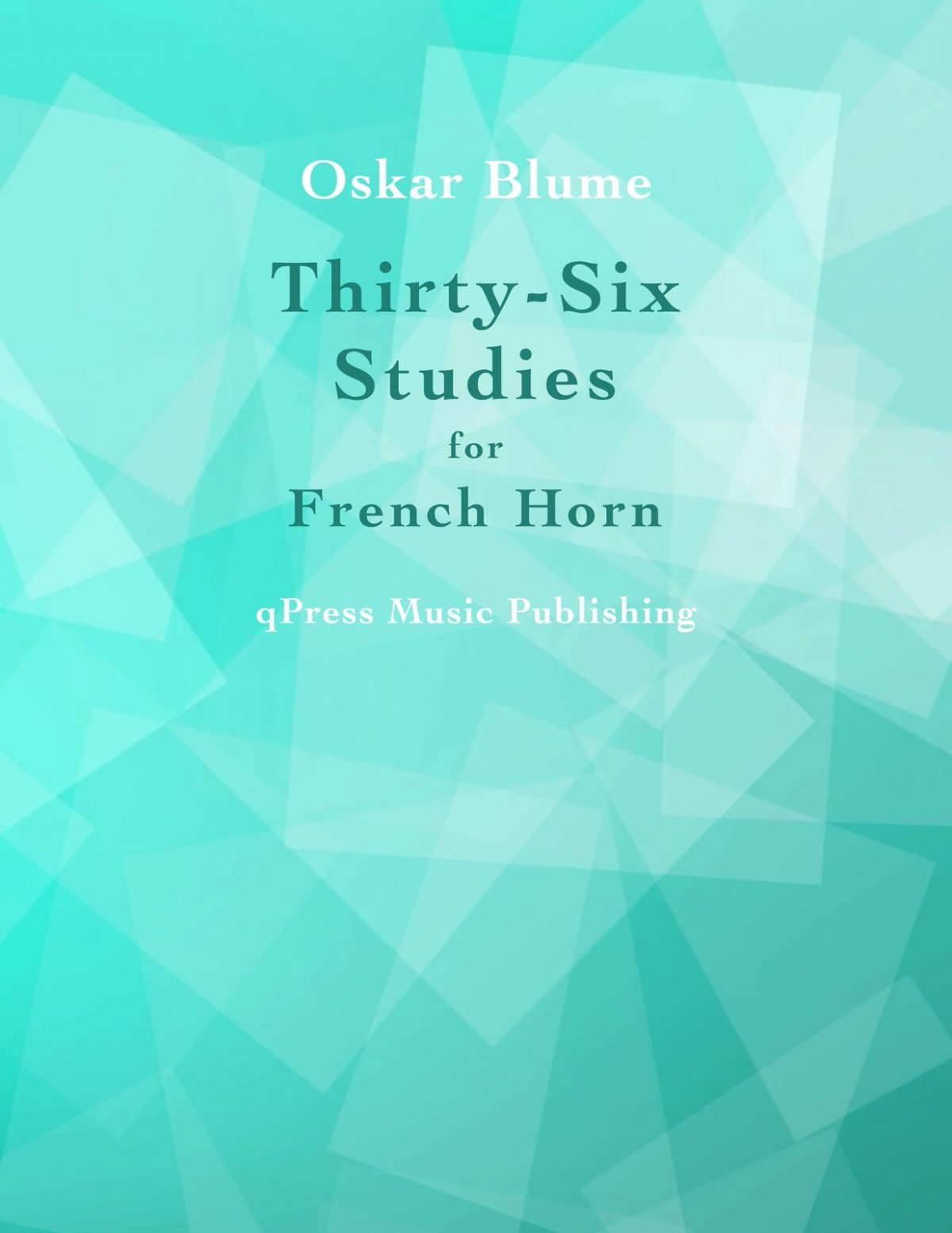 Blume, 36 Studies for French Horn-p01