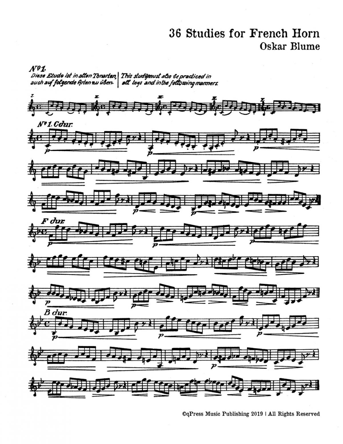 Blume, 36 Studies for French Horn-p03