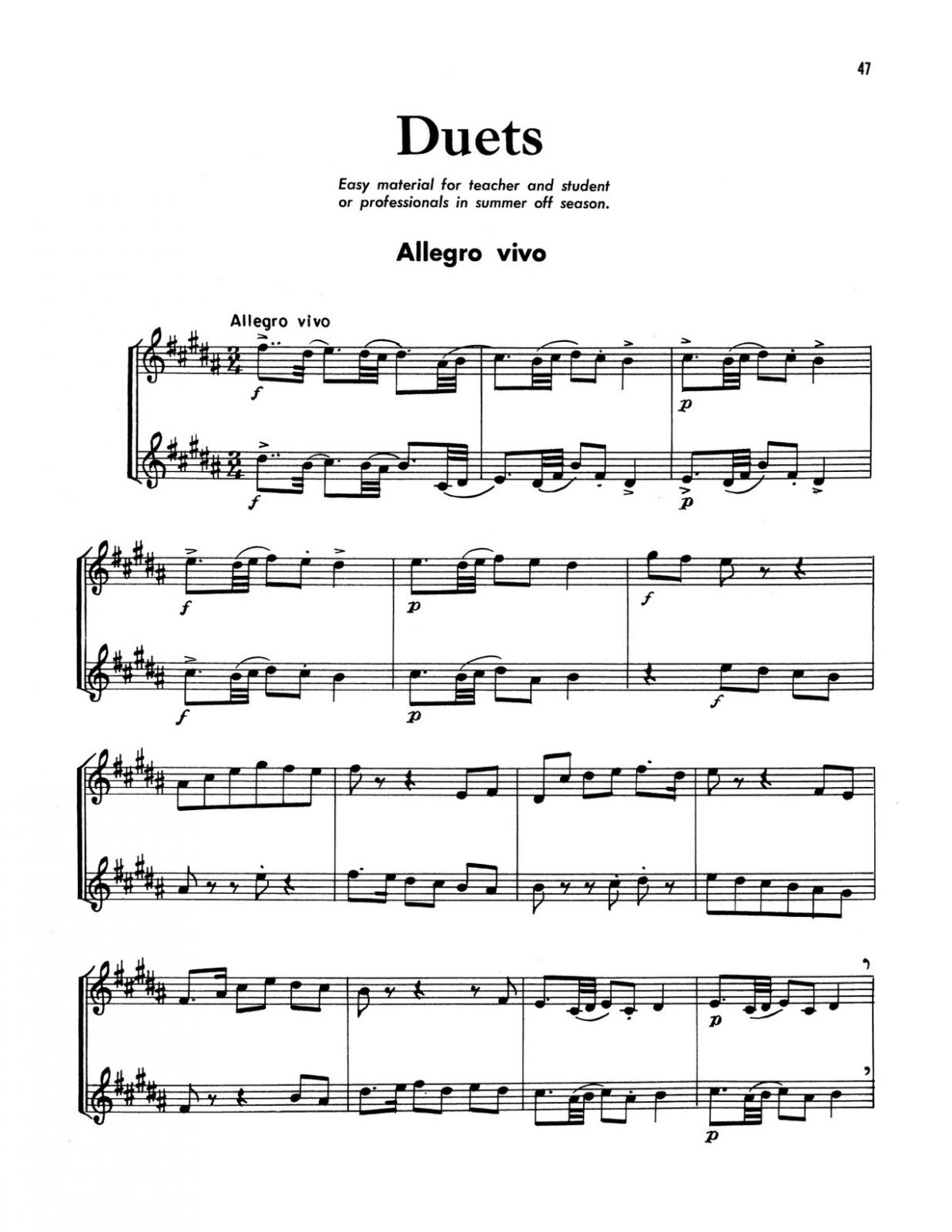 Broiles, Trumpet Studies and Duets Book 3-p49
