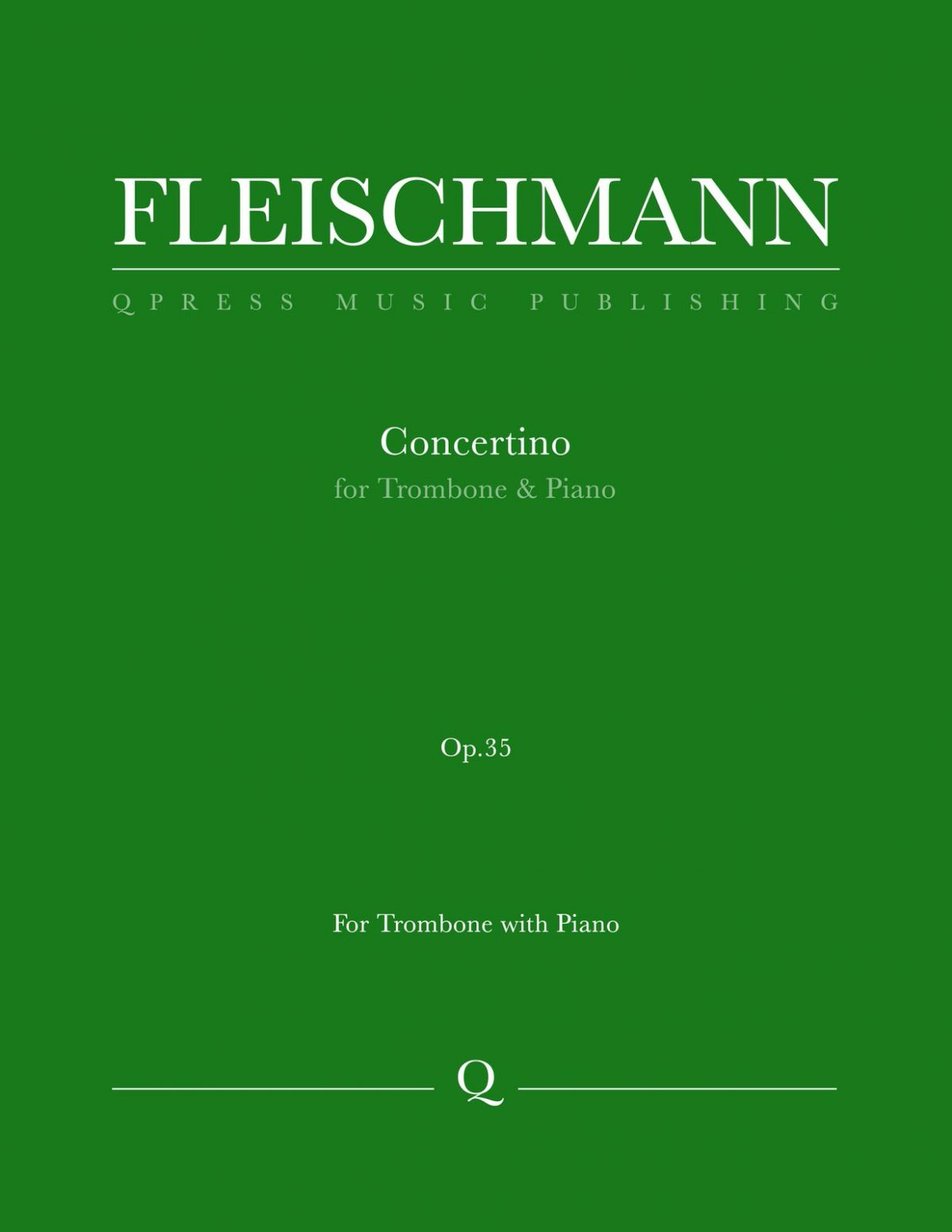 Fleischmann, Otto, Concertino for Trombone and Orchestra-p01
