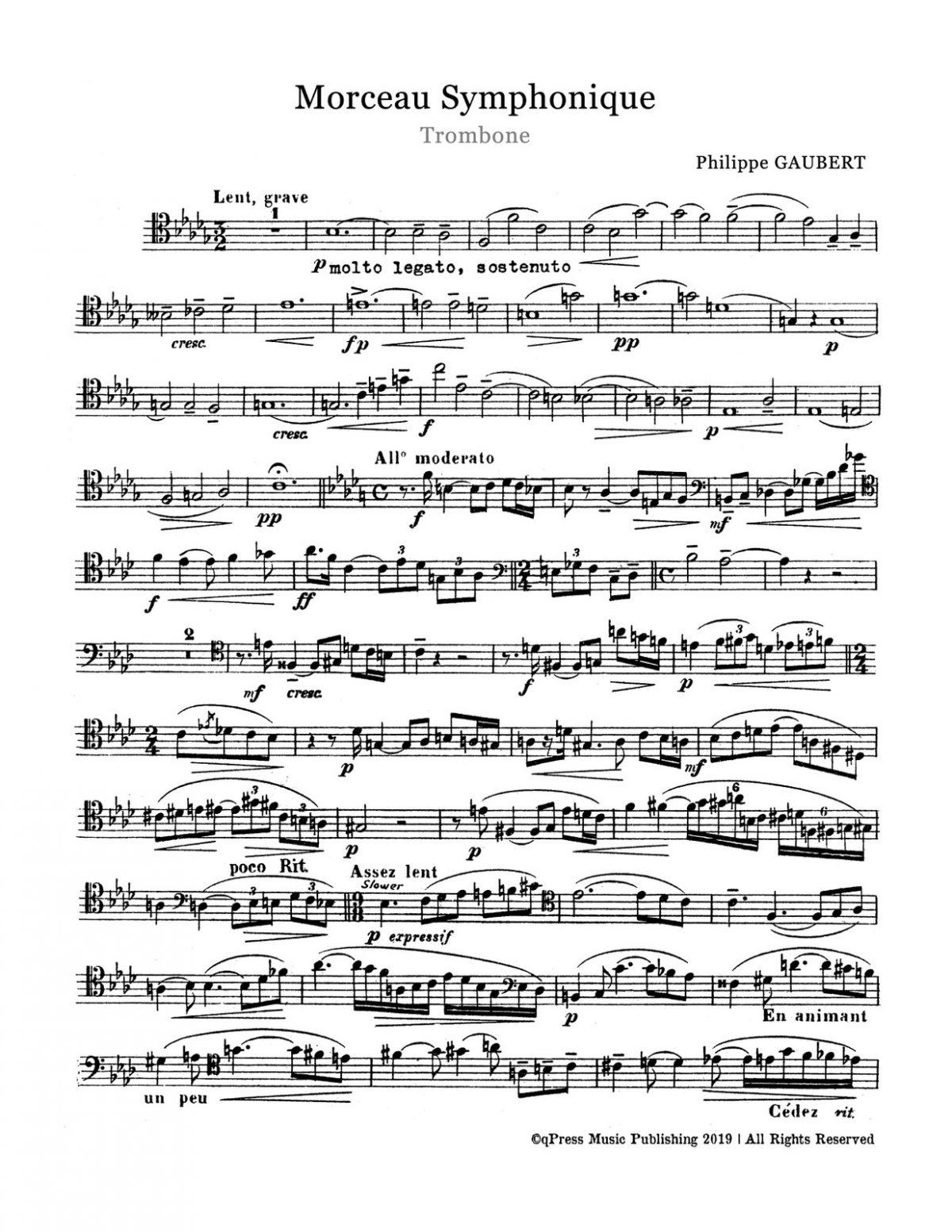 Gaubert, Morceau Symphonique-p03
