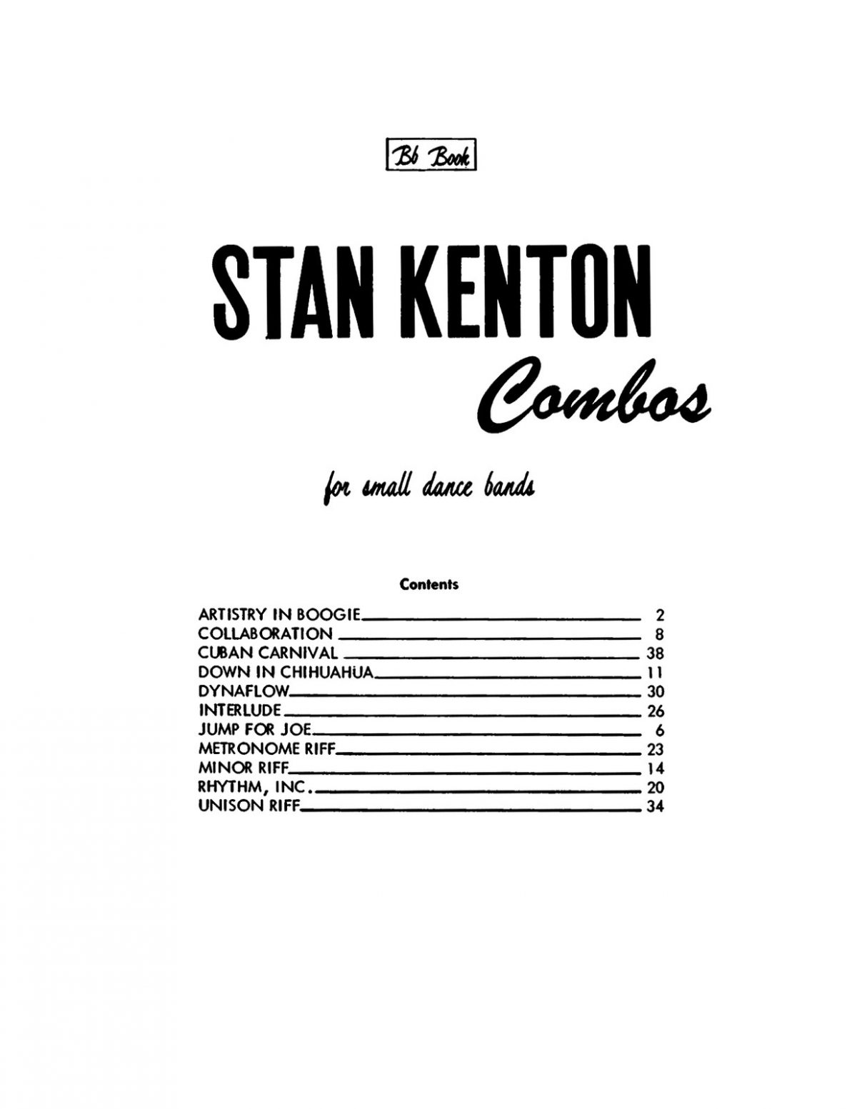 Kenton, Combo Orks for Dance Bands Bb-p03