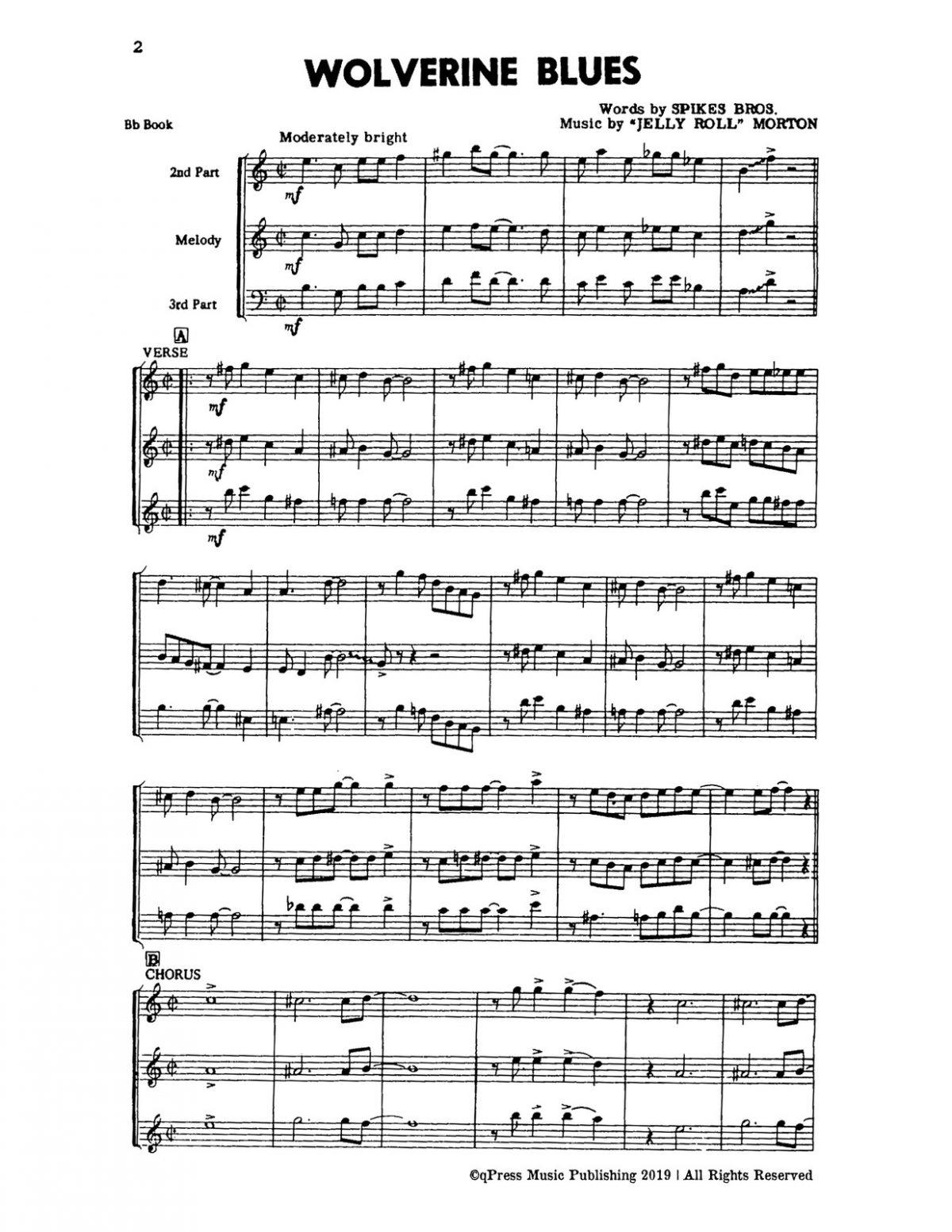 Melrose, Dixieland Jazz B-p06